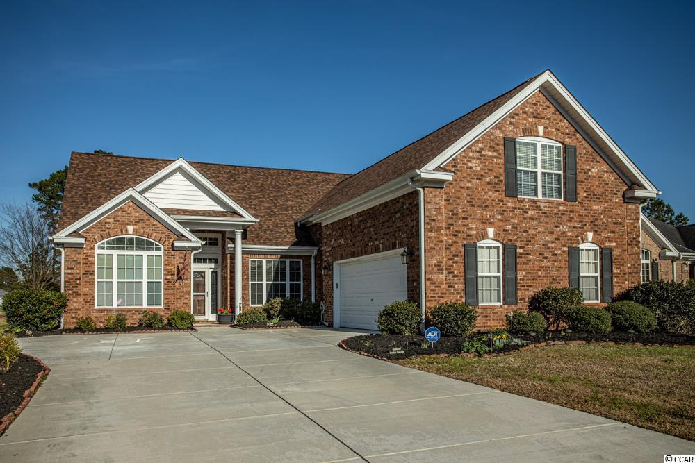 Welcome home to this well-kept all brick 4 bedroom, 3 bath home with a beautiful golf course view!  Crown moldings and hard wood flooring flows through most first floor! This home features a large living room area as well as a family room with a double-sided fireplace!  The spacious kitchen features large island, pantry, built in desk and breakfast nook with tray ceiling and bay window!  Enjoy the beautiful golf course view large all-season room which features EZ Breeze windows, custom roll down blinds and stamped concert floor!  Double doors welcome you to the spacious master suite of the home which features a large walk in closet, plantation shutters, hardwood floors, double tray ceiling with crown molding and ceiling fan! The large master bath features a jetted garden tub, separate walk in shower, double sinks and vanity counter!  The 20x15 4th bedroom above the garage features its own full bath as well as a full-size closet!  Other features of the home include a whole house stereo/intercom system, security system, storm door with roll down screen, rain gutters and side loading garage!  A new roof was installed at the end of 2017 and features a 50 year warranty!  The driveway was completely redone and widened in 2018!  Community amenities include a pool, clubhouse and tennis courts.  This home is located just a short drive from area shopping, schools and attractions!  Do not pass up your chance to own this amazing home!  Call today to schedule your showing!