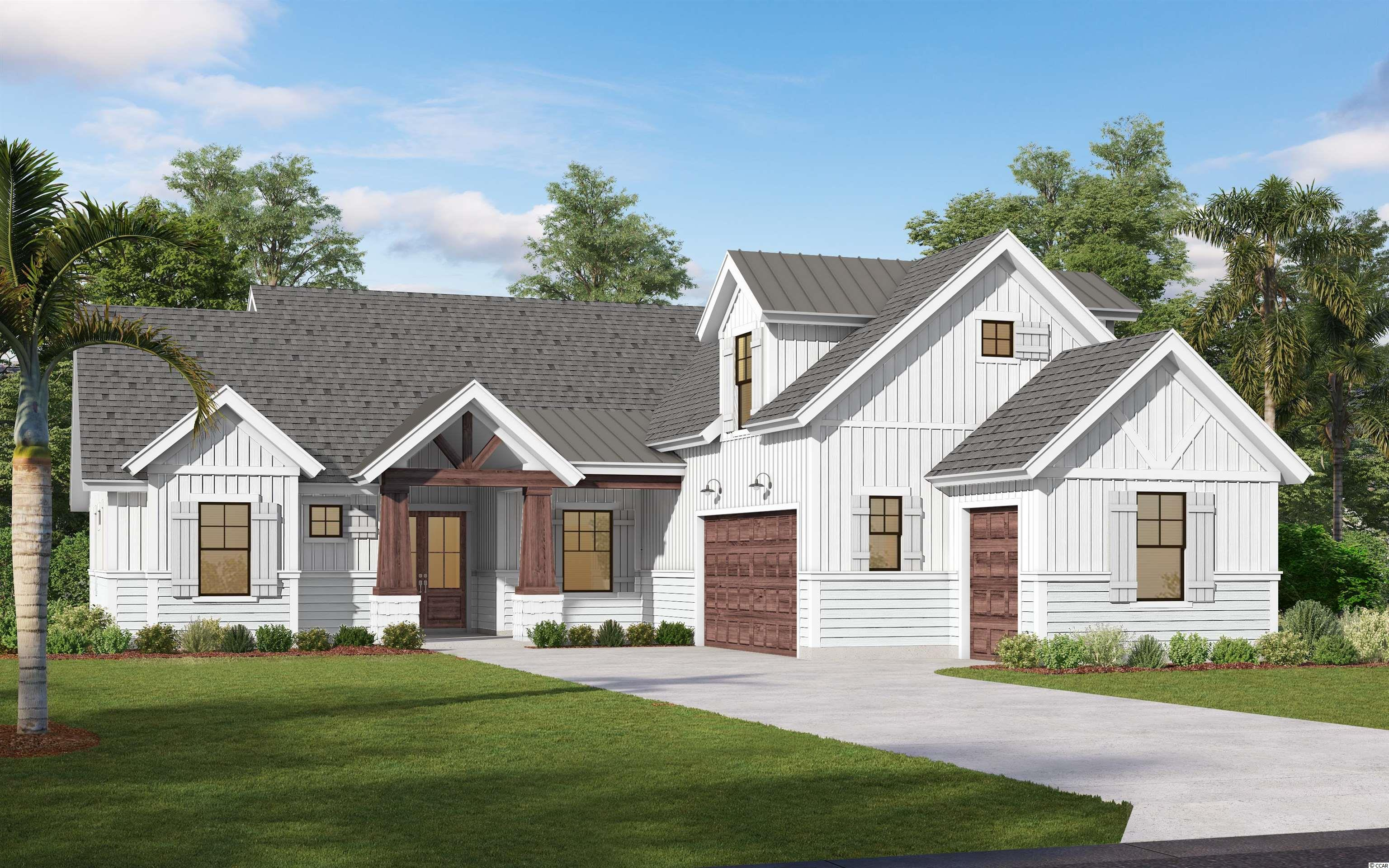 """Welcome to BEAUMONT PARK in Pawleys Island!  New development just minutes from the beach, restaurants, grocery stores and more. One acre home site with NO HOA. Custom builder. This  Carolina  home  plan is to be built with approx. 2007 Heated Square Feet, with an """"optional bonus room"""" to make the total heated sqft to 2286.  Contemporary craftsman style 3 bedroom, 2 bath home with Hardie plank, shake, board & batten siding along with brick accenting exterior. An """"optional """" Bonus Room could be 4th bedroom. Bonus room is not included in listed price. This is an additional cost.  Two car attached garage.   A beautiful covered porch and  a patio to enjoy your morning coffee or afternoon cocktail with friends. This home has many amazing features such as 9 foot and vaulted ceilings on first floor, 8 ft ceilings on second floor, rounded sheet rock corners, crown molding in main living areas.  An open floor plan with a large great room, dining and breakfast nook. The  Master suite has tray ceilings and master bath boosts double vanities, garden tub,  tile shower and his/her walk in closets. Beautiful interior with crown molding, tile floors throughout main living area, granite counter tops in kitchen and master bath, custom cabinets. The main living areas have tile flooring or hardwood flooring and bedrooms are carpet. The additional two bedrooms are a split bedroom floor plan and  guest bathroom has cultured marble counter tops and tile flooring. Come see this beautiful home and start living the Pawleys Island lifestyle! Photos may show features NOT included in base price. Optional upgrades available upon request. .Disclaimer: Storm water plan may change to gain use of undisturbed area at the back of each lot. A retention pond will run along the back of property near property line. There will still be plenty of space for a great backyard. Please inquire for details, price is subject to change. Pictures are of Beaumont Park model home and not the actual home. Options, featu"""