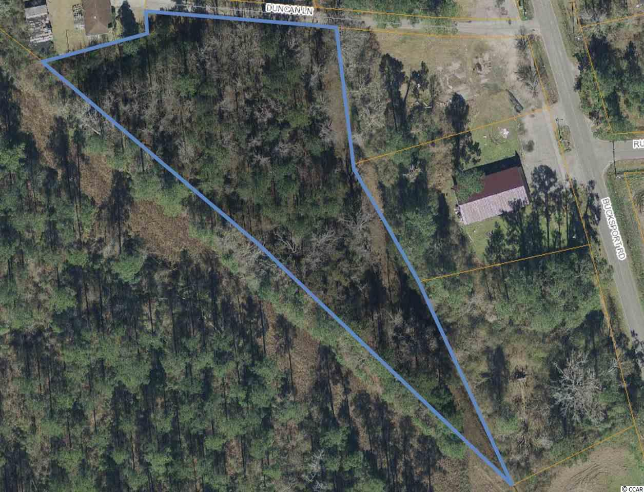 Great opportunity to own a lot just 4 minutes from Bucksport Marina , restaurants and live music venue! 2.45 acres lot on a dead end road, no HOA, and no restrictions! Lots of privacy and great location with easy access to the Intra Coastal Waterway and Waccamaw River.