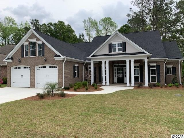 Brand new 3 bedroom 2.5 bath brick home with stucco accents in the Longwood (custom home) section of the highly desired Blackmoor community. Enjoy golf in your own quiet well established community conveniently located close to both Murrells Inlet Marshwalk and Market Common. Just a short drive to the new 31 interchange on 707. The home features an upgraded LVP wood look flooring throughout all common spaces and in the master bedroom. Brick surround gas fireplace in family room with 10' plus ceilings and a telescoping three panel sliding door for maximum light and views of the back porch and landscaping beyond. Cabinets are shaker style throughout in popular gray and white tones. The kitchen features a large island with a cabinet height eat at bar all topped with white and gray quartz. Kitchen is accented with white subway backsplash black hardware and faucet and black stainless appliances including a gas range. The master bath and Jack and Jill bath feature tile floors and quartz countertops. Whether you enjoy a long shower or a soak in the tub you won't be disappointed with the large carrara look tile master shower and the beautiful freestanding soaking tub. Large laundry room with laundry sink and quartz top. The home features lots of storage throughout including a 400 sq ft unfinished bonus room that could be used as attic space or easily finished as heated space as the builder built it for easy conversion. Get it now before it's gone!!! Square footage is approximate and not guaranteed. Buyer is responsible for verification.