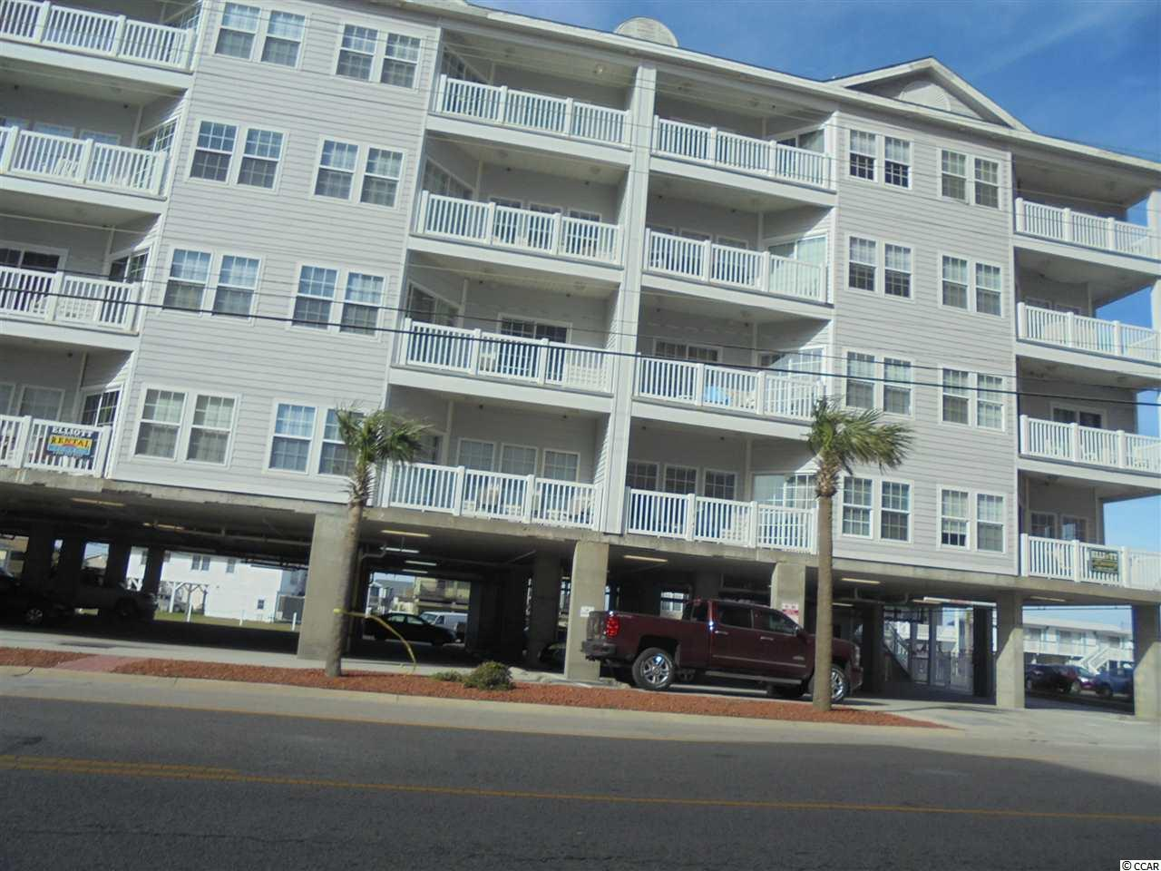 This is a very well maintained condo right across the Boulevard from the Blue Atlantic with great views up the North Shore.  Great potential for rentals, group gatherinings, golfers and large families.  so much to do in the area, pool downstairs, Cherry Grove Pier right across the street, ocean a short walk across the street.  Also, in a quieter part of town.  Easy access in and out of the area with all major roadways within a few miles.  Fully furnised also includes a foosball table.