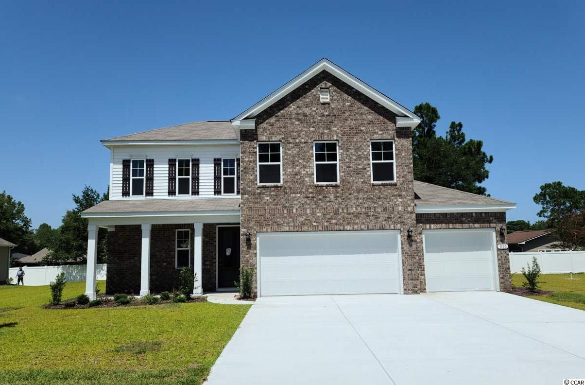 "This home has everything you are looking for! Our Belfort plan on a huge lot with 3- car garage! The exterior features brick accents, an inviting front porch, and a rear patio. This home offers a spacious kitchen which boasts 36"" white painted maple cabinets, granite countertops, a large gourmet island overlooking the family room, a spacious pantry, and stainless steel Whirlpool appliances. Beautiful laminate wood flooring throughout the main living areas! First floor master suite with a large walk-in closet and en suite bath featuring a spacious dual vanity, 5' shower, and a separate linen closet for additional storage. Ask about our Home Is Connected smart home package!   *Photos and virtual tour are of similar Belfort homes. (Home and community information, including pricing, included features, terms, availability and amenities, are subject to change prior to sale at any time without notice or obligation. Square footages are approximate. Pictures, photographs, colors, features, and sizes are for illustration purposes only and will vary from the homes as built. Equal housing opportunity builder.)"