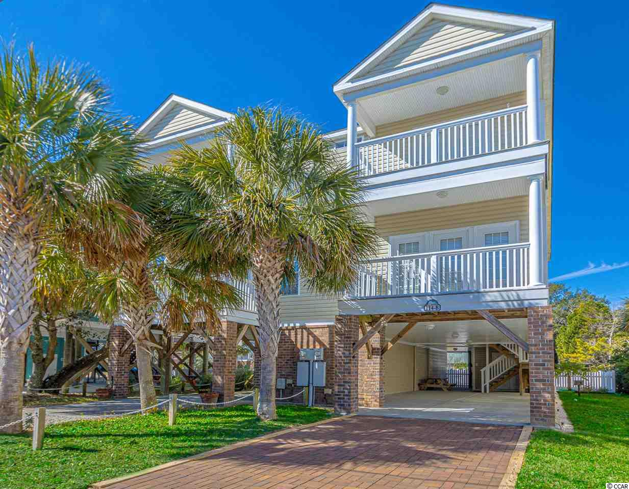 Steps to the Atlantic and all of the entertainment Surfside Beach has to offer!  This 5 bedroom 4.5 bath home has an open concept floor plan and its own private pool.  Large tiled floors on the first floor with a large breakfast bar and spacious kitchen.  A second master bedroom with private porch overlooking the pool completes the downstairs.  Upstairs are 4 spacious bedrooms and master suite with private baths.  Outside, enjoy your own private pool and outdoor shower with plenty of room for your golf cart.  This well maintained home has not been rented by the current owner but could be an excellent vacation rental.  Call me to schedule your showing today!