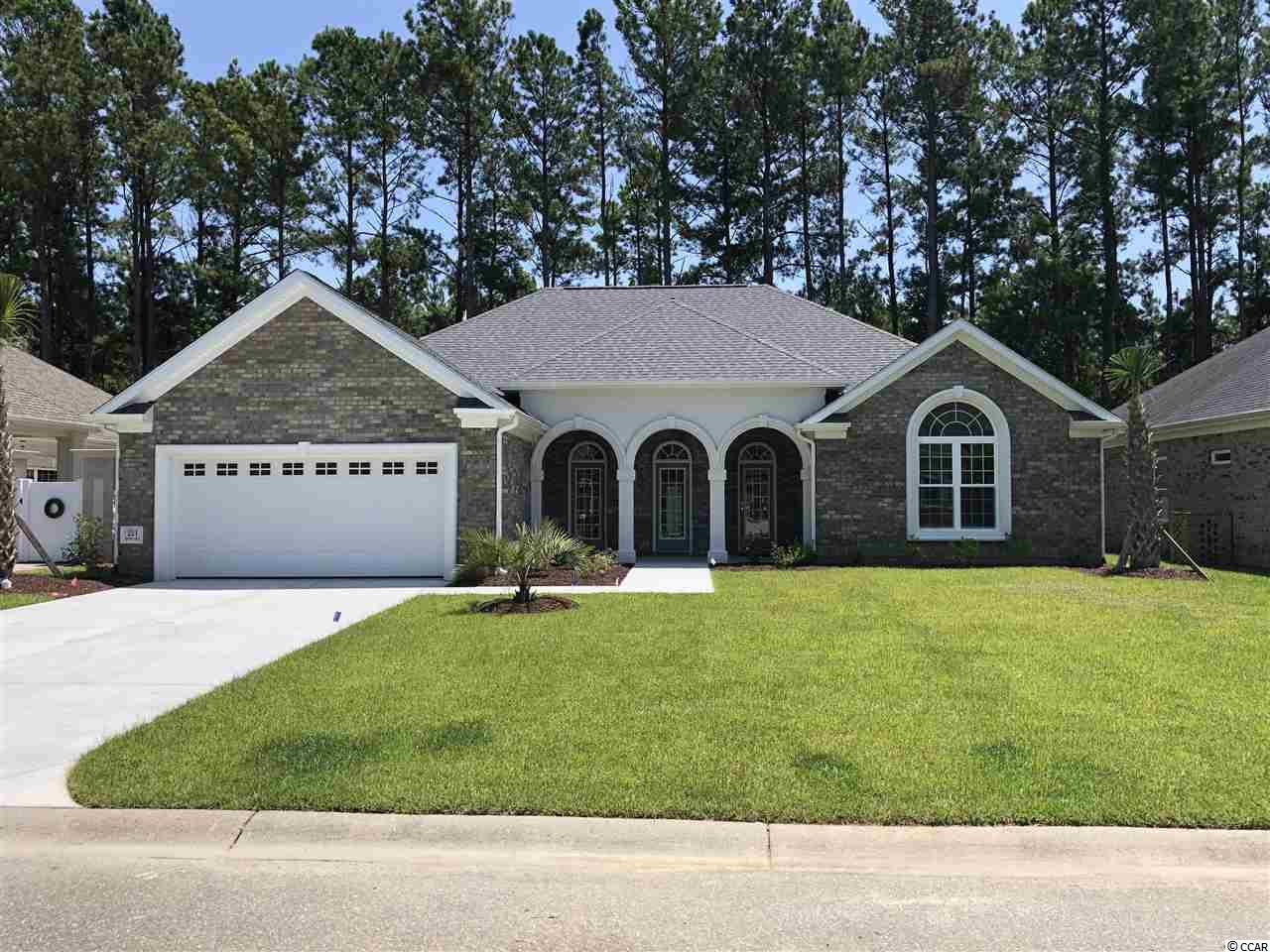 Location, location, location. Located 8 minutes from NMB beachfront and all the dance clubs, 1 mile from the NMB Sports Park, and Hwy 31 which gives you quick access to many of the local golf courses, 5 minutes to Seacoast Hospital, and 4 of the NMB schools. Waterfall is an all brick, gated community with privacy walls on your lot. This new open floor plan home will be ready May of 2020. The exterior features arches on both the front and back porches. Interior features includes 3-4 bedrooms including 1 large room with a vaulted ceiling. Waterfall is built around an 8.5 acre stocked lake and offers fishing or just relaxing in your non gasoline boat or on your paddle board. Amenities also include an amenity center with a swimming pool, a fitness room, a tv/lounge area with a full inside kitchen and outside grill.