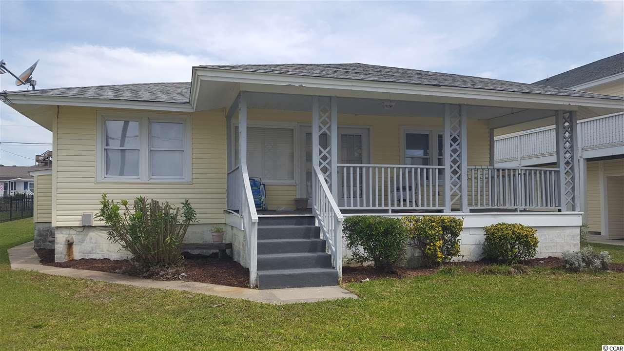 This home is located on S. Ocean Blvd. with public beach access across the street. This home is located in a highly desirable area of North Myrtle Beach with an abundance of possibilities including homeowners and investors.   Main street in North Myrtle Beach is just blocks away and offers a family friendly atmosphere with lots of shopping, restaurants, bars and seasonal events.