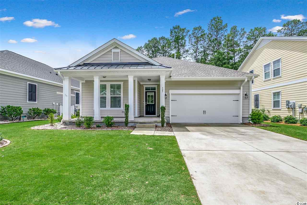 "Looking for single story, newer construction, natural gas, indoor gas fireplace, private fenced in back-yard, front porch, large rear screened in porch, and many high end features? This 2018 semi-custom built home has it all! 327 Scottsdale Court is located in a premiere Prince Creek (Murrells Inlet) golf course community situated along the 18th fairway at the only TPC golf course in the state. You can literally walk to the TPC clubhouse! A great place to conveniently enjoy the many events held weekly. Champions Village is a smaller community to our area with only roughly 75 total homesites. This is a very small community for the area! Not only is the community small, it's also one of the few that have an actual community clubhouse for events and fellowship (See pictures)! The community also has a nice appeal with requiring all homes be built with higher end structural features including raised foundation and concrete fiber siding (commonly referred to as Hardie Board). 327 Scottsdale Court is the most chosen home plan for the community. This plan ""The Sawgrass"", features open concept living with a spacious kitchen, living room, and oversized bedrooms and baths. Contact your agent today to come experience the beauty of 327 Scottsdale!"