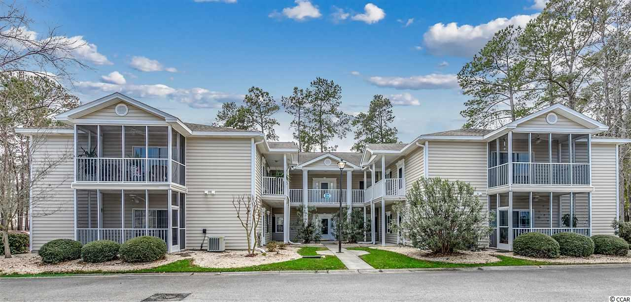 Been looking for that perfect place to hang your flip flops and head to the beach? Then you need to check this out! Second floor, end unit with wooded view and a private balcony.  The two bedroom, two bath condo has been freshly painted and is ready for you to start enjoying all that Murrells Inlet area has to offer. Not in the mood for the beach?  No problem. Sweetwater community offers a onsite pool. So, what are you waiting for?  Make your viewing appointment today.
