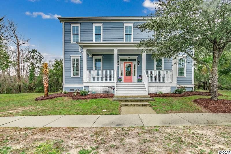 This beautiful 4 bedroom, 3 bath home in Charleston Landing has it all, located on the marsh with 2 ponds, park and basketball court. An amazing view from the pool overlooking the marsh to Cherry Grove Beach. Hardwood floors downstairs in living area, and carpet in bedrooms. Crown molding downstairs, granite counter tops and stainless steel appliances. Private parking for home owners for boats and RV's. A short golf cart ride to the beach as well, a must see. Also an unfinished great room upstairs with 655 square feet!