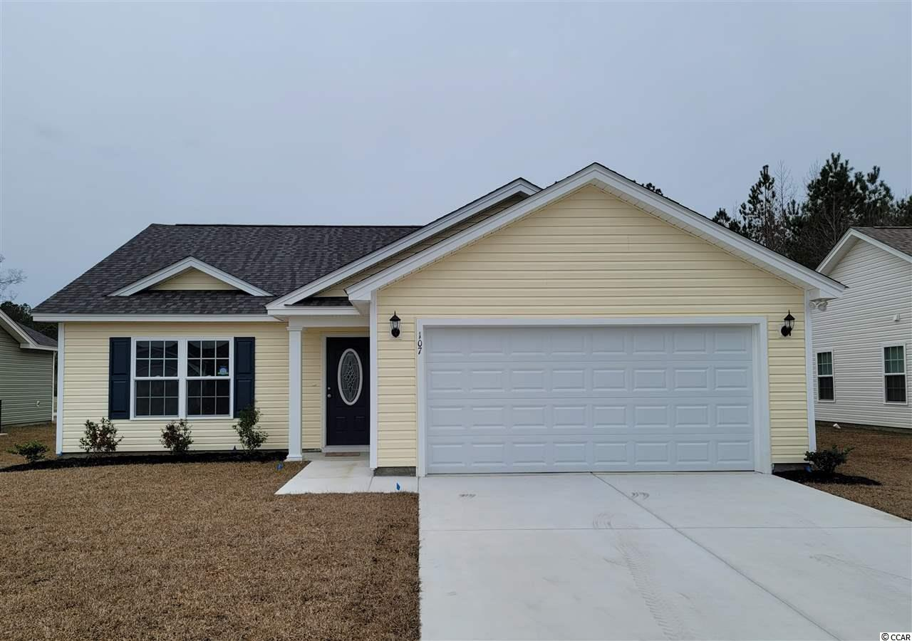 The TyBee Model is a one level home with 3 BR 2 Bath, 1668+/- heated sq. ft.  An open floor plan that features a spacious and comfortable kitchen overlooking the living room. This homes features includes but are not limited to: Low Maintenance Exterior Vinyl Siding. 30 Yr - Architectural shingles , Low E- Vinyl windows Large 2 Car Garage. Open Kitchen with Stainless Steel Appliances, Spacious Bedrooms,  5 ft. walk-in shower in Master Bathroom -  cultured marble vanity top in bathrooms. Pictures are of a similar plan model home and are for illustration purposes only. Beverly homes offers home customization and floor plan changes. Georgetown Estates is a premier community conveniently located along HWY 521,  easily access both  downtown Andrews and the Historic Georgetown, SC.  sidewalks wind throughout the community.  Huge oaks and beautiful mature trees surround this gorgeous new community. Come experience the beautiful and sweet life that the low country of South Carolina and Georgetown Estates has to offer! Beverly Homes is a equal opportunity Builder.
