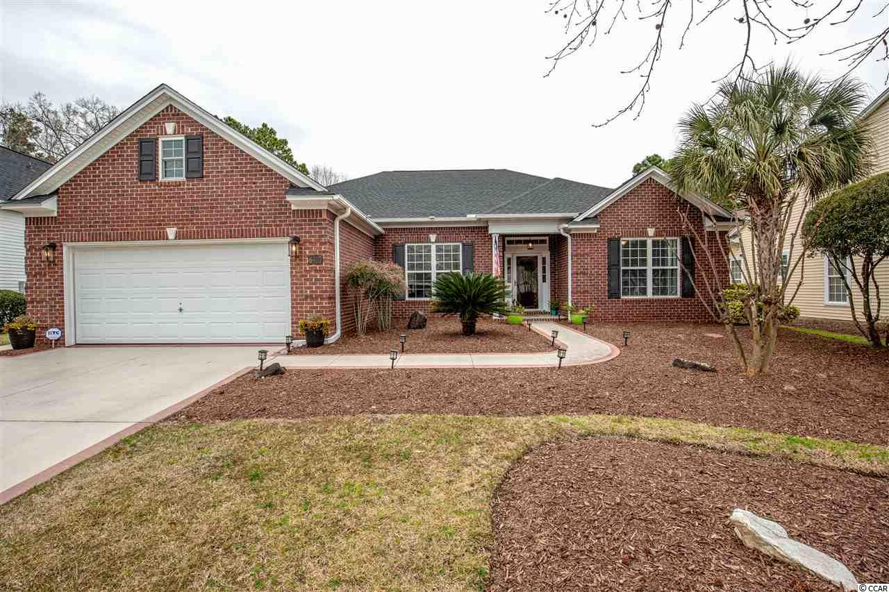 Magnificent 4 bedroom 3.5 bath home in Blackmoor located on the 13th green of the golf course. This gorgeous home has so many incredible features like intricate design in the tile flooring of the foyer, 12ft ceiling in the living room, and impeccable hardwood floors in the living, dining, and bedrooms. There is also a large 2 car garage with painted detailing on the concrete drive way and walkway. The spacious living room has a gas fireplace and has a cased opening leading into the Carolina Room. The Carolina Room has heating/cooling, 2 skylights, and floor to ceiling windows with glass doors that take you out to the pool area. In the kitchen there are stainless steel appliances including a wine fridge, granite countertops, a breakfast bar, breakfast nook, pantry, and a work island with seating for 2. The master bedroom has a ceiling fan, two separate walk in closets and an ensuite featuring double sinks, garden tub, and a roomy glass door tile shower. There are 3 additional bedrooms, 2 more full baths, a half bath for guests, and a laundry room as well. One of the guest bedrooms serves as a second master with its own ensuite bathroom and walk in closet. In the backyard the fabulous pool is under a big covered lanai plus there is a retractable awning for extra shade in the summer. This backyard oasis also features a hot tub and a great view of the golf course! The roof and screened in lanai were replaced in 2018 and a brand new HVAC in 2019.  Blackmoor amenities include a clubhouse, community pool, tennis courts, and playground. Located in Murrells Inlet just 15 minutes from the famous Murrells Inlet MarshWalk or Huntington Beach State Park! You'll enjoy the close proximity to wonderful restaurants, entertainment, and other great golf courses! Don't miss the spectacular home in Blackmoor, schedule your showing today!