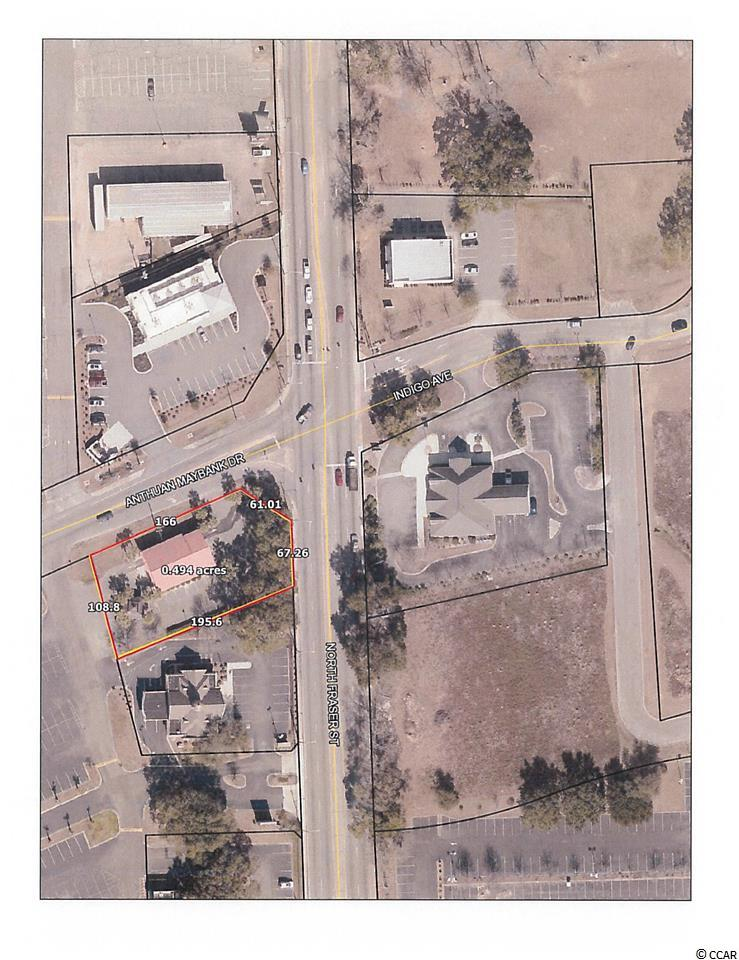 1/2 acre Corner Lot at lighted intersection - major intersection. Traffic county 24,000 +/-  Other corner users - Verizon, AT&T, and City Hall