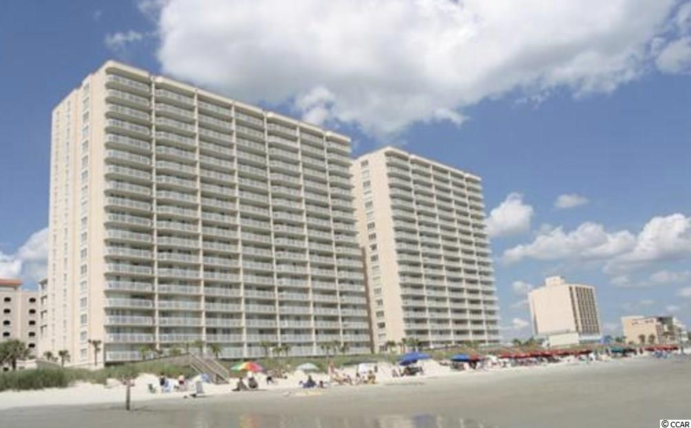 Direct oceanfront, luxury 4 bedroom, 4 bath condo is on the 11th floor of Crescent Shores showcasing spectacular views. This condo has a spacious floor plan featuring glass doors maximizing your ocean views which lead out to wonderful balcony space. The 26' ocean front balcony allows access from the Living Room and Master Bedroom. The master suite has a king size bed,  ceiling fan and the master bathroom offers double vanity sink, a whirlpool garden tub and separate glass enclosed shower. The kitchen includes granite counter tops, microwave, dishwasher and full size washer and dryer. Great rental potential!! The resort has a multitude of amenities including: an indoor pool, an outdoor pool, a lazy river, hot tubs, kiddie pools, an exercise room, and high speed internet. Convenient to shopping and restaurants.