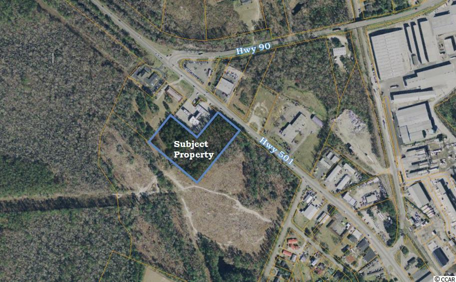 4.48 acres direct Hwy 501 Business access.  Great location for retail or self storage.