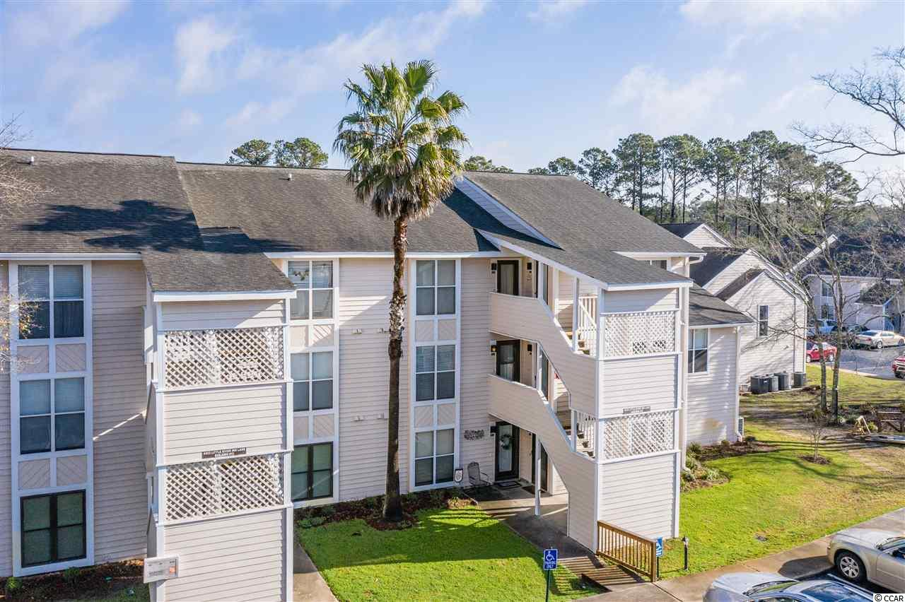 Virtual Tour Available, please ask! Furniture Negotiable. This Spectacular 2 bedroom 2 bath Condo located under 4 miles to the Ocean! Perfect beach home, investment, or second home with low HOA! Enjoy the amazing views overlooking the tennis court with two climate controlled screened porches!  This condo's great floorplan allows for total privacy between the split bedroom layout and open dining/entertainment area for a spacious living environment. Homeowners can sit back and relax on the oversized balconies with climate-controlled shutters. The condo is conveniently located under 2 miles from 3 prestigious golf courses, minutes away from the Intra Coastal waterway, walking/biking trails, shopping, and the best food the Grand Strand has to offer! The HOA fee includes 2 pools and jacuzzi, electric common areas, Trash, insurance, common maint/repair, manager, legal and accounting.
