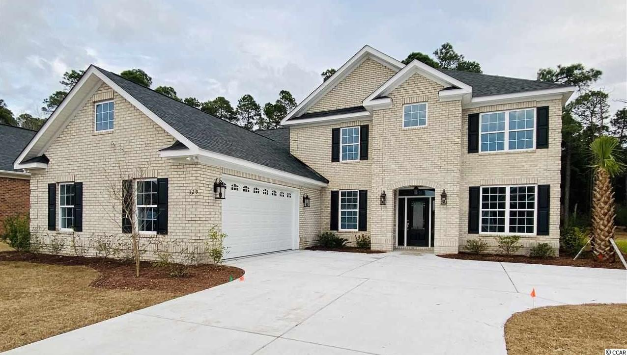 Gorgeous home under construction in sought after Plantation Lakes neighborhood. Some photos are of a representative home with same floor plan built in another neighborhood. Finishes and floor plan may vary from photos. Still time to make your interior color selections! Contact agent for current build status. This home is going to feature a light brick exterior and a side load 2-car garage. The main level includes an office/den, formal dining room, family room, amazing kitchen, laundry room, master bedroom with a double tray ceiling and luxurious master bathroom. Upstairs you have 4 generously sized bedrooms, a full bath in the hallway for two of the bedrooms and a huge Jack and Jill bathroom between the other two bedrooms. All the bedrooms have large closets. The main level is 9' ceilings and upper level is 8' ceiling height. Other included features are 30 year architectural shingles, painted garage interior, 14 seer HVAC per each floor, microwave vented to outside, arched room openings, tile in all wet rooms, carpet in bedrooms, hardwood in some rooms, granite kitchen counters, kitchen tile back splash. Plantation Lakes will have a stop light at the entrance with the new road widening of Carolina Forest Blvd and an 8' path on each side of the Blvd. Plantation Lakes is a premier community along the Grand Strand with a beautiful community center, 2 pools, tennis courts, basketball court, playground, sidewalks, navigable lake and community day dock. It is an active community with events for all ages! Award winning school district and less than 10 miles from the beautiful Myrtle Beach oceanfront. Square footage is approximate and not guaranteed. Buyer is responsible for verification.