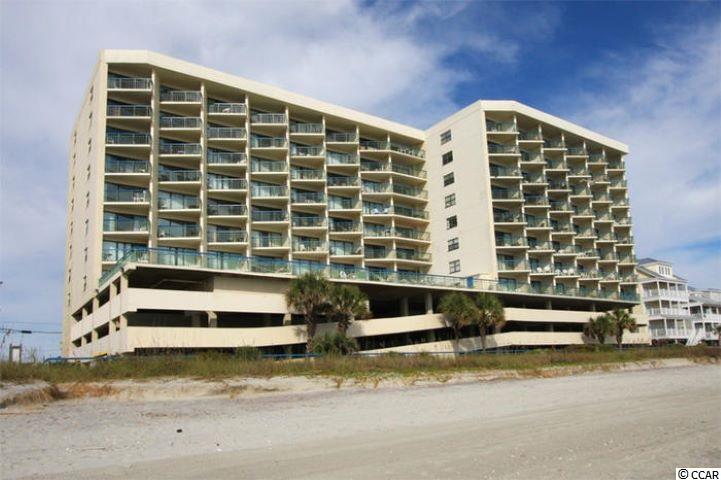 Beautiful One bedroom one and a half bath, oceanfront condo at The Oceans. Awesome views.  Laminate flooring.  Great investment opportunity. Enjoy the ocean side pool. Community laundry available and owner's lounge.  Walk to lots of attractions in Cherry Grove which is the quieter end of the beach to enjoy family memories.  Don't forget your beach chair and fishing poles.