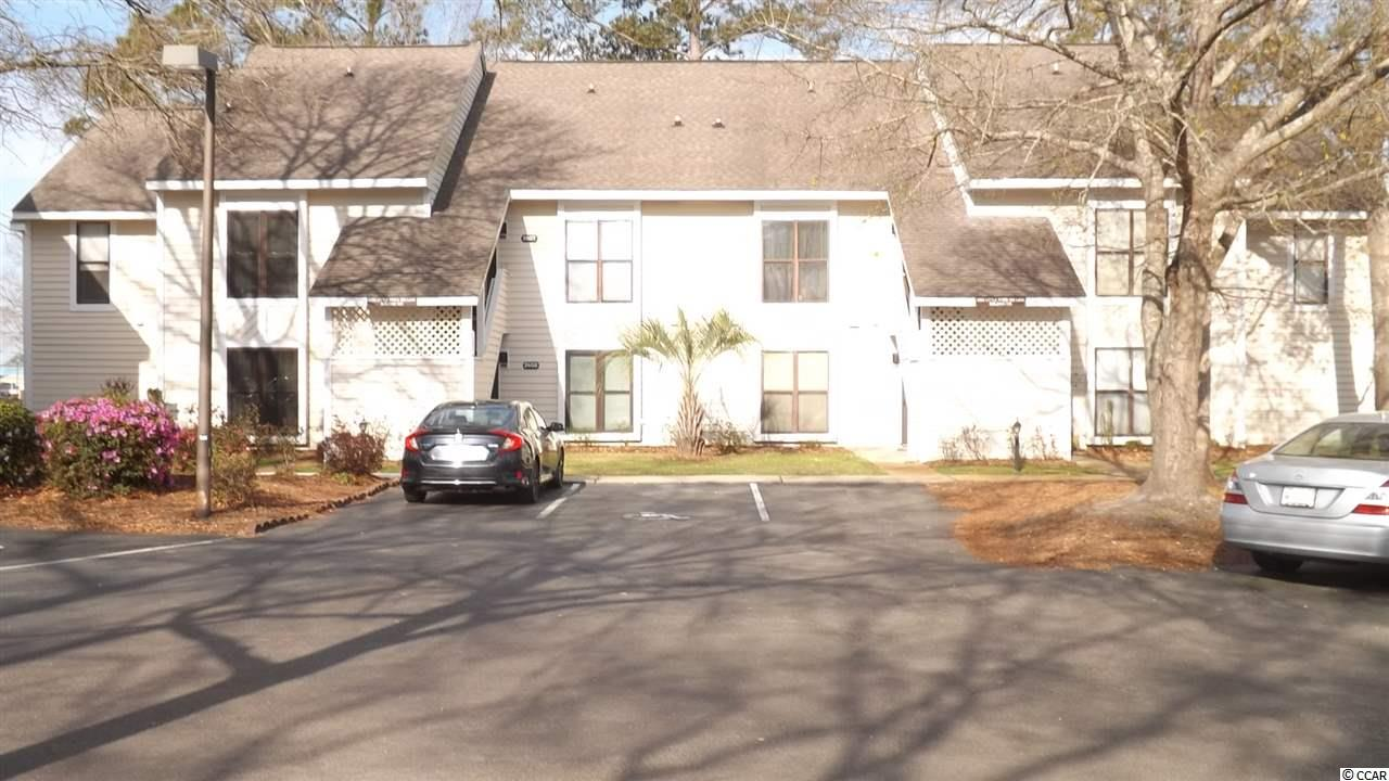 Best deal at Little River Inn for a ground floor property. This ground floor condominium is spacious and move in ready. The unit features a foyer with two large bedrooms on each side of the foyer. The bedrooms feature carpeting, walk-in closets and separate vanities. The master bedroom also has a sink in the bathroom. Both bedrooms have large ceiling fans while both bathrooms have tub/shower combination. The kitchen is highlighted by tile flooring along with lat top stove,microwave, refrigerator(7 yrs. old), dishwasher, garbage disposal, breakfast bar and pantry. The family room features beautiful wood laminate, a large ceiling fan, storage closet(complete with laminate flooring) and sliding glass doors that lead to the all climate sun room. The sun room has storm windows specially ordered for their strength, and ceiling fan. When you open up the sliding glass doors the family room becomes extra spacious. The unit offers a full size stack washer and dryer. Little River Inn features 2 beautiful pools with a Jacuzzi and trees for privacy. The tennis courts and playground area add to the extra curricular activities of beach life. The community supplies its own trash bin with each homeowner receiving private keys. The beautiful landscape community is just a five minute ride to the sandy beaches of Cherry Grove and is close to all major highways that give easy access to shopping and beach attractions.