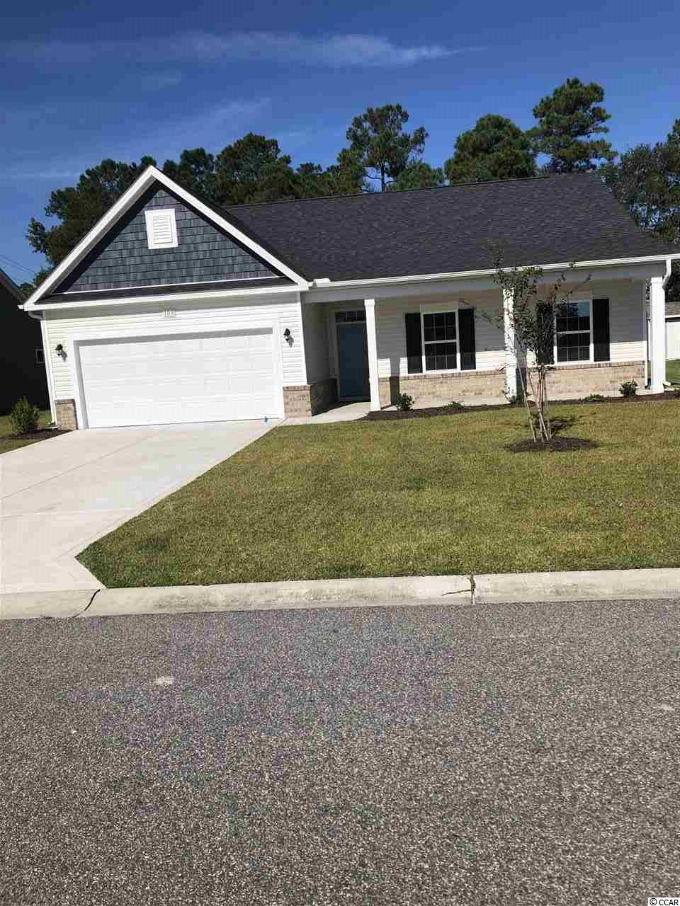 Pictures are of a similar, completed home. This home is our popular Frisco plan with 3 bedrooms, 2 baths, large open kitchen and family room and front and rear porches all on a 1/4 acre home sitebacking up to trees! Home will be complete August/September 2020!