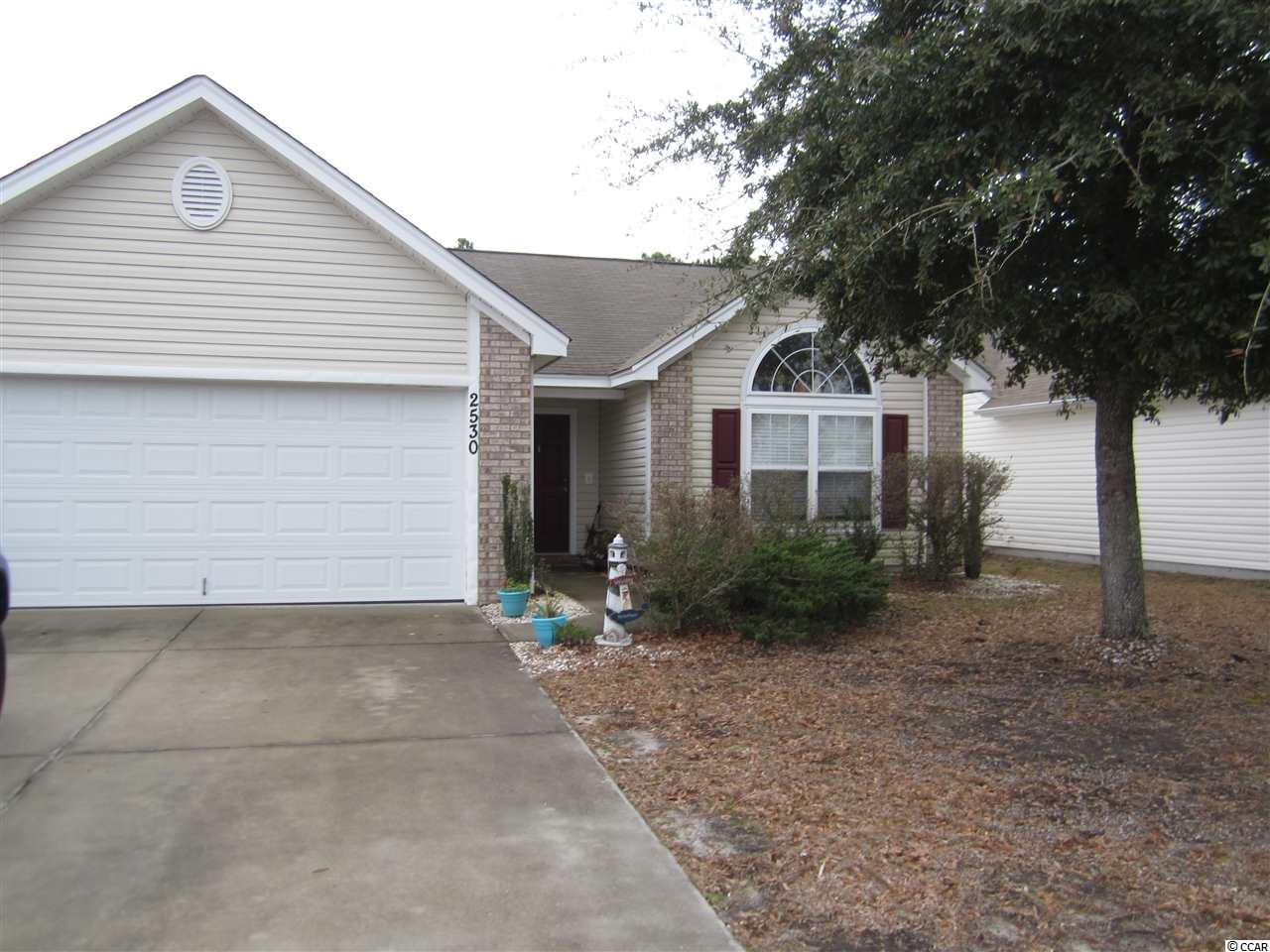 This is your chance to own a home in the popular Avalon community in Carolina Forest.  Open floor plan with vaulted ceilings in the living room.  Split floor plan and large backyard that backs up to the woods.  Well maintained with the HVAC and water heater replaced in 2016.  Avalon is a popular community with wonderful amenities, outdoor pool, playground area, picnic area, basketball courts, soccer field and baseball diamond.  Avalon is approximately 15 minutes to the Beach so all of Myrtle Beach attractions can be enjoyed.  Measurements are approximate, Buyer should verify.