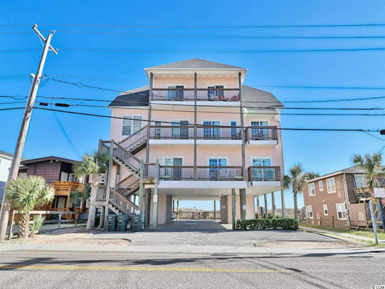Introducing a wonderful 8 bedroom, 8 bath, oceanfront condo in the popular Cherry Grove area of North Myrtle Beach! Just steps from the beach, this luxury unit features spectacular ocean views, multiple deck areas, large bedrooms most with en-suite baths, a modern kitchen with granite counters and breakfast bar, an enormous family room/recreation room, and a private patio with a pool. Over 4000 square feet, this condo provides plenty of living, recreation, and entertainment space. The location provides easy access to major roads, just minutes from all the shopping dining and entertainment the Grand Strand has to offer!