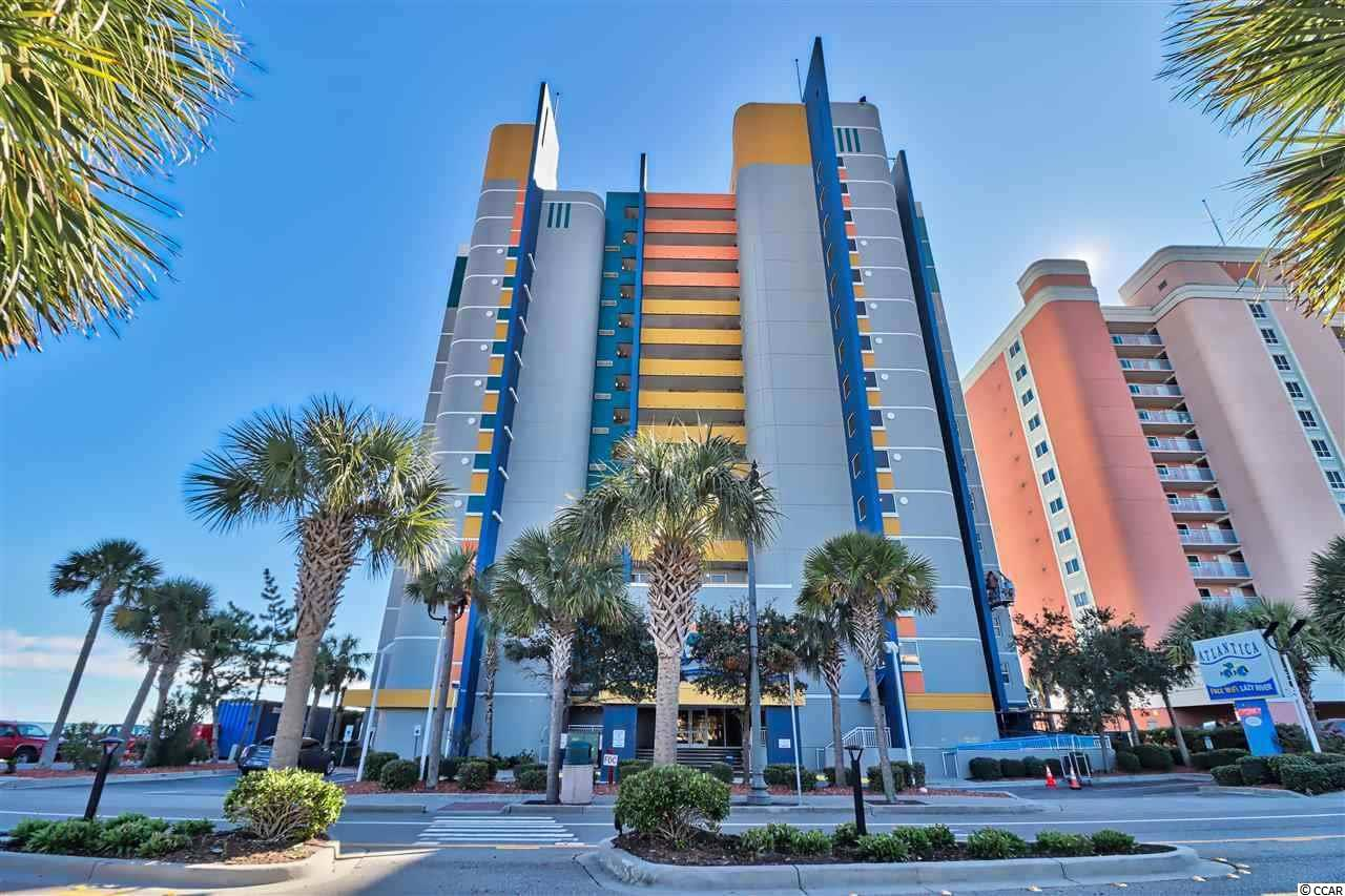 Breathtaking ocean views and white sandy beaches from this 2 bedroom, 2 bath End Unit. Sold furnished including a washer/dryer. Sleeper sofa in living room for extra sleeping arrangements. HOA fees include all utilities. Atlantica II has ocean front swimming pools, 150' lazy river, indoor pool with waterfall, hot tubs indoor and outside. Great rental income! The Atlantica is situated in the heart of Myrtle Beach, offering quick access to the pier, Skywheel, and all major attractions, restaurants and golfing! Whether you are looking for an investment opportunity or a vacation get away for the family, you won't want to miss this. Schedule your showing today! Easy to see! Square footage is approximate and not guaranteed. Buyer is responsible for verification.