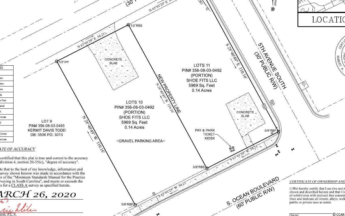 Perfect opportunity to build a single family home or multi-family home. This lot is currently being used as a paid parking lot. This is Lot 10  and Lot 11 is also available for purchase. These lots have been subdivided and will recorded once offer is accepted. This Zoning will let you go up to 9 stories.