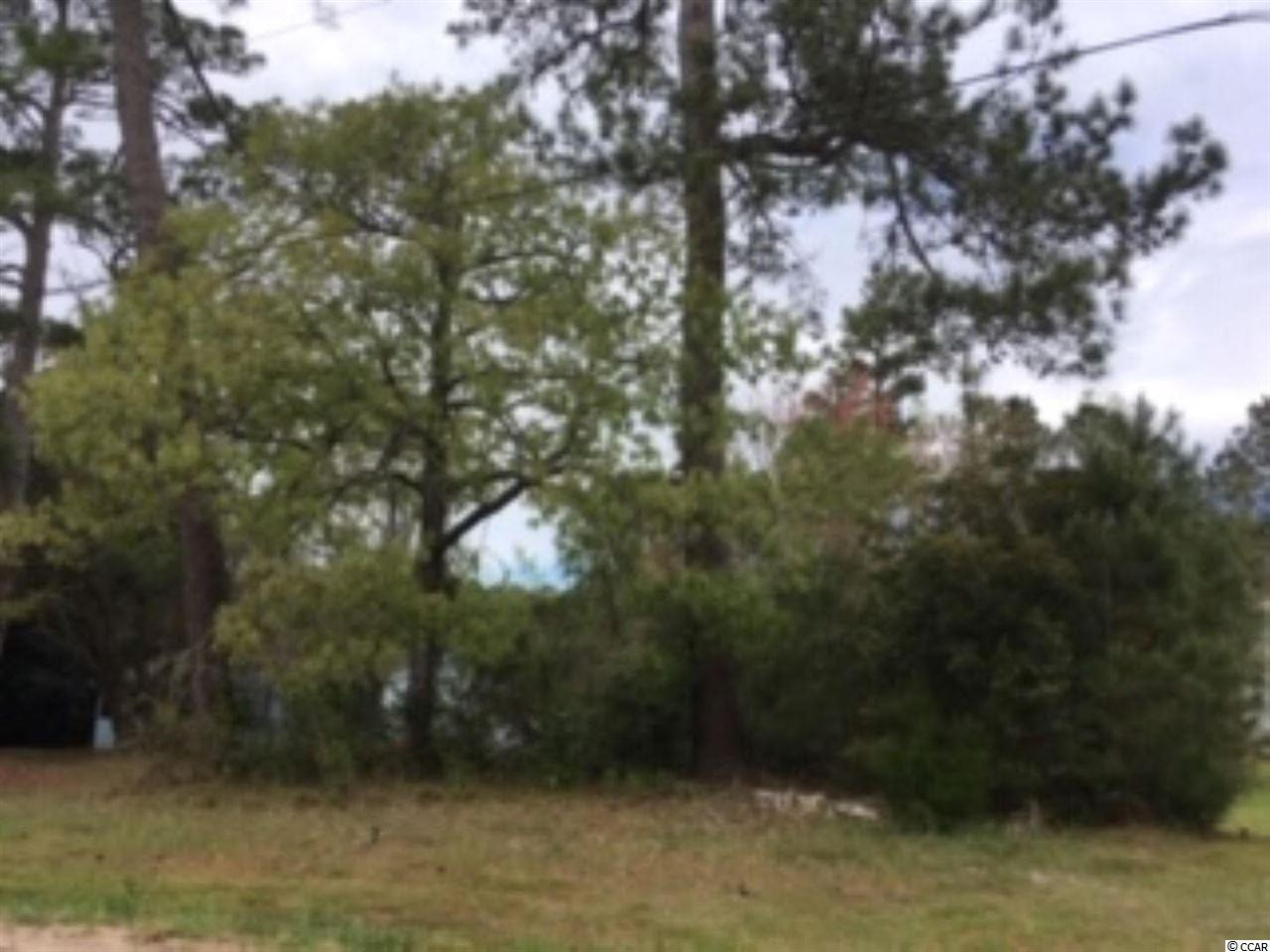 Large lot in Little River, home of the Blue Crab Festival.   Walk to the waterfront, no time frame to build.  Located in Horry County, Little River is not incorporated, so NO city taxes.  Water and Sewer are available.  Lot 200' +/- deep.  lots of room! Sorry no mobile homes allowed.  Hurry won't last long!!