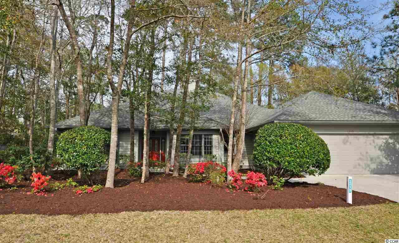 The best of easy beach-golf living, this BIG, custom-built treasure is a rare find! Moreover, with the proven value of Tidewater, this golf-course home is appealing for a permanent residence, vacation home or excellent investment property. Homes in the Plantation have low HOAs and city taxes with amazing amenities and may be rented on both a short- and a long-term basis. Tidewater Plantation Resort boasts a world-class golf course, is minutes from the beach, shopping, medical services, schools, entertainment, dining & access to major highways. Amenities include owners' oceanfront beach cabana with open/screened porches, bathrooms, showers & kitchen on the wide white-sand Cherry Grove Beach, just named the 11th best in the nation. Residents have a private beach access entrance and plentiful beach parking. In Tidewater, residents enjoy the use of several pools/hot tubs. Other amenities are driving range, golf shop, clubhouse with bar/dining & event facilities, clay and hard-surface tennis courts, pickle ball court, fitness center, bocce/horseshoe courts & amenity center. Tidewater is manned, gated & has a gated, monitored storage yard for boats, jet skis, etc. The resort reflects the luxury & comfort of a fine upscale beach/golf lifestyle. And, in Tidewater, BIG value often comes in likewise surprising Big packages, such as this unforgettable nearly 3,000 heated-square-foot 4- bedroom, 2 1/2-bath traditional ranch with a memorably spacious flex-floor-plan, workshop, 3-season room overlooking the golf course and private split-bedroom guest wing with jack-n-jill en suite. Yet it lives like a cozy cottage with tons of cabinet space, planned storage and lots and lots of closets, including two entry, two linen, two masters and more. A nice front driveway leads to an over-sized two-car garage with an outside and interior double entrances, either directly into the home via the utility-room hallway to the kitchen or to the workshop/craft-room, also leading to that hallway and to the kitchen and guest bath. The front of the home overlooks a lovely, mature landscape of pretty flowering plants and indigenous foliage that surrounds the house as well. A welcoming entry foyer with decorative doorway looks out contiguously inside to the golf course via the seasonal Carolina room-rear-porch with a beautiful flag-stone floor. Formal dining is to the right and the towering great room straight ahead, adjoining the kitchen further to the right & the master/en suite and fourth bedrooms to the left. The fourth bedroom was used as an office. This living area is the heart of the home, has high ceilings & a wonderful gas fireplace. The formal dining space has a tray ceiling and is easily accessed from the kitchen and is nearby the guest bath for entertaining. The kitchen is family-sized with island, breakfast bar and breakfast nook with a great view of and access to outside living areas and to the golf course. The two guest rooms and bath are off of the kitchen to the right and are separated from the kitchen by a pocket door as a very private wing. The kitchen opens as well to the hallway to the guest bath, dining room and to the large functional utility room with BIG closet & cabinet-storage, workshop, and garage. Terrific traffic patterns throughout! This unique custom-build reflects preplanning by a thoughtful original owner who chose to construct a quality dream home for the generations in popular North Myrtle Beach, a Top-10 Beach Town in the U.S., named the safest city in South Carolina, and in Tidewater Plantation Resort.Tidewater is on a tree-lined road to oceanfront Anne Tilghman Boyce Coastal Reserve, a nature conservancy, including Waties Island. Tidewater itself is on an elevated peninsula of live oaks and southern pines between the ICW and the Cherry Grove Inlet to the Atlantic Ocean. Real- & face-time virtual tours available by appointment with Listing Agent. See this best of the best easy-living beach-golf home on a third-acre lot today!