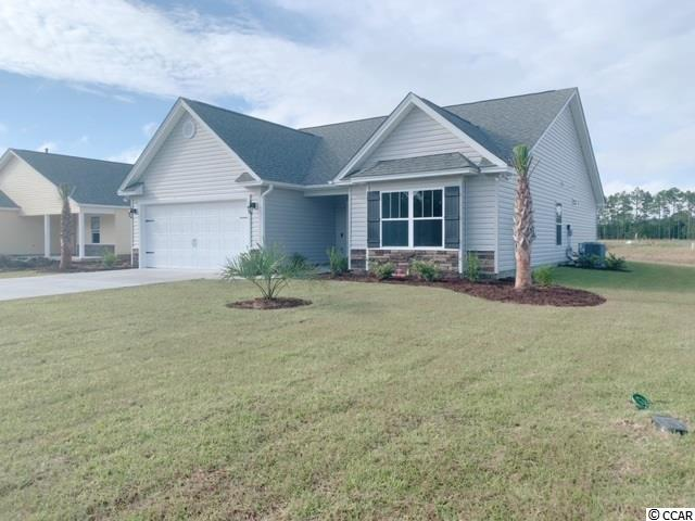 "Natural Gas quiet community located in Little River/North Myrtle Beach only a few miles from the Beach and major shopping! This is the Princess floor plan with expanded family room. Spacious open floor plan on a corner home site featuring 3 bedrooms, 2 baths downstairs with a Bedroom & full bath upstairs. This home includes finished 2 car garage, stand up cultured marble shower in Master Bath!!! LVP flooring, crown molding on kitchen cabinets with hardware included, granite countertops in kitchen. Wainscot in Foyer and 5 1/2 "" beaded baseboards through entire house for Custom look!! Home also includes TAEXX pest control tubing, lawn irrigation and Ring video doorbell!!! Stone accents on the exterior as well. *All measurements are approximate"