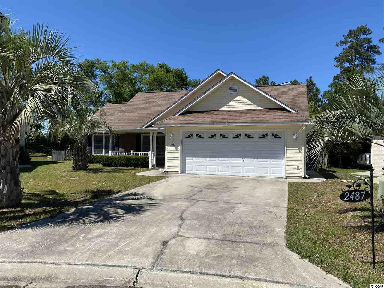 One of the newer homes in Woodlake Village. Has an over sized 2 car garage, large fenced in backyard with covered patio area. This home has a beautiful Carolina Room with long windows and plantation blinds, open floor plan, fireplace and jacuzzi tub. Woodlake Village is an ADULT 55+ community with low HOA that includes pool, tennis court, shuffle board, club house and pond.