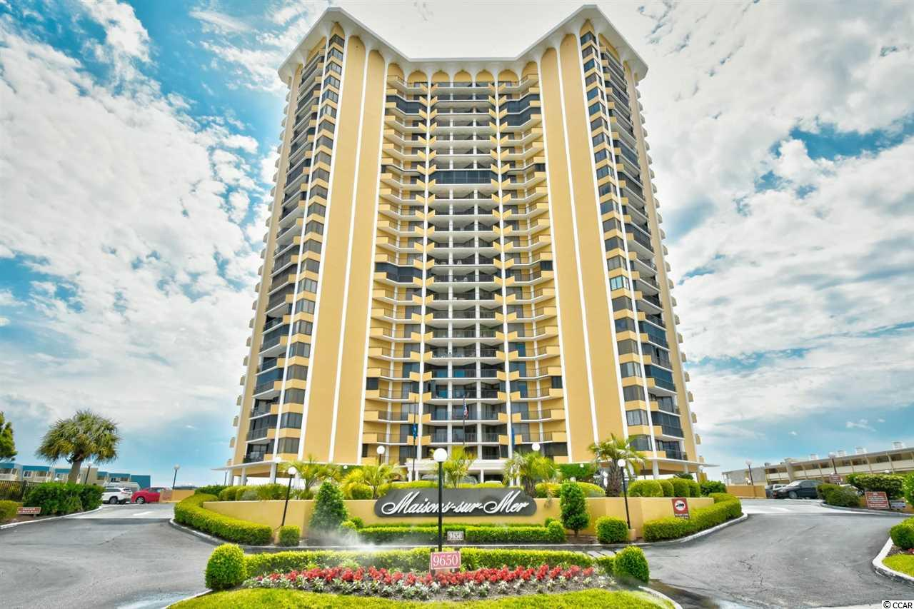 Welcome to this fully furnished 2 bedroom, 2 bathroom unit in the highly sought after building, Maisons Sur Mer. This unit features well coordinated furnishings throughout, a full kitchen equipped with all appliances and a breakfast nook, separate from the formal dining area. Each bedroom offers plenty of closet space, access to its own bathroom and the 14th floor balcony! Sold with a washer/dryer included, and ready for you to move in or start renting. The Maisons Sur Mer offers the best amenities including an outdoor pool, onsite dining, tiki bar, oceanfront lounge, tennis courts, grilling, exercise facilities, game room, and 24 hour security! Whether you are looking for your forever home or your next investment opportunity, you won't want to miss this. Schedule your showing today!