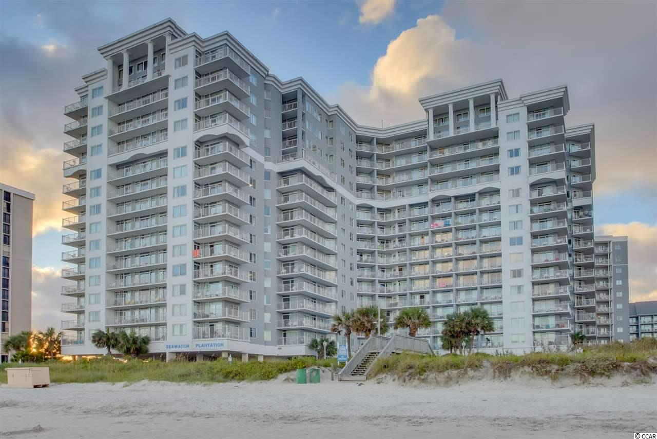 Welcome to this beautiful direct oceanfront 2 Bedroom 2 Bath unit in the South Tower of the popular Seawatch Resort! It is the largest 2 Bedroom floor plan in the building with tons of updates! Fully furnished and well-equipped with the full size kitchen and washer and dryer. As soon as you walk in, you can tell this condo was well cared for. White wall panelling in the hallway and kitchen, as well as the accent walls in both bedrooms give the unit a lot of character. Updated  window treatments, closet doors, ceramic wood looking tile in all areas except the bedrooms, newer furniture and decorations make this condo everyone's dream. HVAC system is less than a year old. Ceiling fans in both bedrooms.     Perfect position in the building provides fantastic views of the Atlantic Ocean from the 5th floor. The SeaWatch Resort is an oceanfront project located in one of the most desirable sections of Myrtle Beach- The Arcadian. The Resort sits on 10 acres and features many amenities: 5 outdoor pools, 2 indoor pools, 12 Jacuzzis, lazy river, an oceanfront restaurant/lounge, fitness room, onsite pizzeria, Starbucks cafe and much more.
