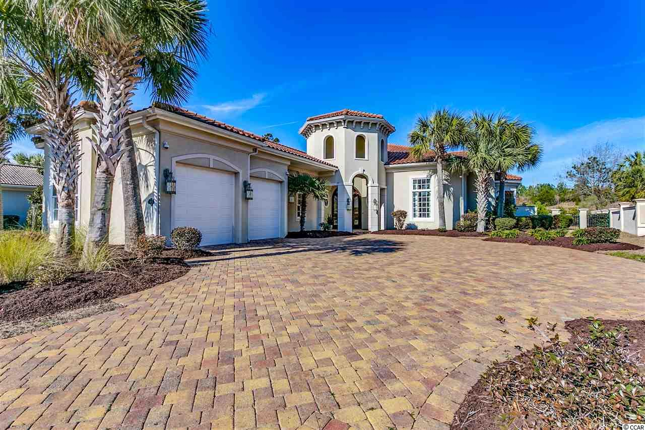 wonderful opportunity to own this one of a kind Mediterranean masterpiece in the highly exclusive gated community of Members club at the Grande Dunes. This custom designed home was completed in 2007 and sits on the 2nd hole of the Members Club. This magnificent open floor plan features 3 beds 3.5 baths with media room which makes it a wonderful home for entertaining. The gourmet kitchen features custom cabinets, granite counters, tile backsplash, work-island and top of the line Viking stainless steel appliances. The great room features soaring barreled ceilings, architectural stone columns with a fireplace. The enormous master suite is fit for a king and queen, the bedroom features lighted trey ceilings, enormous walk in closets with custom shelving and direct access to the outdoor living area. The en-suite bath features dual vanity granite sinks with oversize whirlpool tub, and spacious glass rain shower. Tile flows throughout the common areas and baths, then carpeting in the bedrooms. The backyard features over 600 sqft of outdoor living space and has a wonderful large pool and spa for a great day of entertaining. Other features are oversized two car garage, ICF and steel stud construction which typically qualifies for lower insurance rates and saves on utility fees. Grande Dunes stretching from the Ocean to the Carolina Bays Preserve, this 2200 acre development is amenity-rich and filled with lifestyle opportunities unrivaled in the market. Owners at Grande Dunes enjoy a 25,000 square foot Ocean Club that boasts exquisite dining, oceanfront pools with food & beverage service, along with meeting rooms and fun activities. Additionally, the community has two 18-hole golf courses, including the area's only truly private course designed by Nick Price, along with several on-site restaurants, deep water marina, Har-tru tennis facility and miles or biking/walking trails! For the most actuate information and floor plans please contact the listing agent.