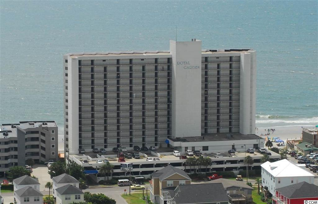 Royal Garden Resort is one of the only condos in Garden City Beach where the HOA includes your Electric Bill for inside your unit! This budget friendly resort offers tons of amenities to go along with the very reasonable HOA monthly amount. This two bedroom/two bathroom, direct oceanfront unit on the 7th floor has amazing views of the ocean and can see all the way up to Myrtle Beach to the north, and down past Huntington Beach State Park to the south. Being sold fully furnished, simply bring your toothbrush, sandals and swim suit and you're good to go! The complex offers indoor and outdoor swimming pools including two Kiddie pools, oceanfront hot tub/sundeck, parking garage, security, sauna, game room, conference room, Sand Bar, and three elevators, all in a concrete/steel constructed structure. Make sure to check out the Matterport link for a virtual tour of the property (https://my.matterport.com/show/?m=TgrMQBm633S&brand=0). Please call the listing agent, or your Realtor, to schedule a showing!