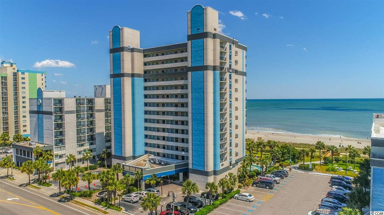 Owner financing is possible...Completely updated with a modern and beachy feel - from the moment you step inside, the mood is set for a great vacation. This oceanfront corner 2BR/3BA, lockout layout is one of the best floorplans that you will find for the price. Outstanding ocean views and balcony access from the living room and both bedrooms, with accommodations for as many as 10 guests between the lockout studio and oversized true/private 1BR, 2BA section. Updates include engineered vinyl plank flooring, new cabinets and countertops in the kitchen and baths, new furnishings, Smart Roku TVs and so much more; even an oversized ensuite private whirlpool tub. The Boardwalk Resort is conveniently located on 23rd Ave N, close to everything MB has to offer. Walk to the SkyWheel, Boardwalk, and tons of walkable dining options. The Resort includes the amenities that everyone wants, with indoor/outdoor pools, lazy river, expansive oceanfront lawn, fitness and laundry onsite. The building was just repainted in 2020, with an HOA fee that is all inclusive of utilities, building insurance, parking etc. Seller financing available for a quick and easy close, making this the preferred choice as a 2nd home or vacation rental with high income potential.