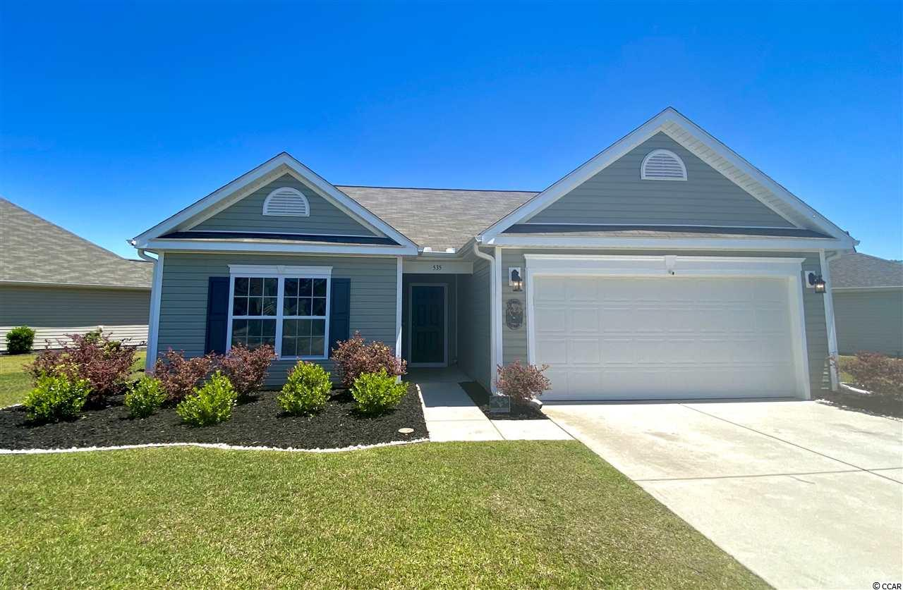 Available for QUICK CLOSING - owner can vacate asap - Bright and open three bedroom, two bath single level home built in 2015 with two-car garage in desirable Palm Lakes Plantation.  Home features stainless appliances, granite countertops, covered porch with large back yard adjoining wide open common area (fences are allowed).  Seller to provide one year HOME WARRANTY FOR BUYER - Palm Lakes Plantation is a friendly, active neighborhood with an amazing recreation center including a clubhouse, fitness center, pool, playground and more!  Close to everything!  Just minutes from shopping, North Myrtle Beach beaches, schools, and with easy access to Hwy 9 and 31.  Perfect for retirees or a small family as a primary residence or second home.   SQUARE FOOTAGE IS APPROXIMATE AND NOT GUARANTEED.  BUYER IS RESPONSIBLE FOR VERIFICATION.