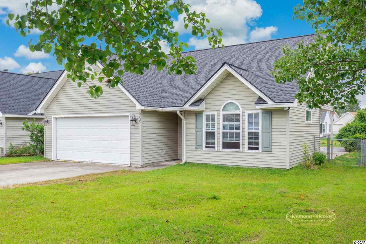 Great location – well maintained home in Mallard Landing subdivision. This home has a New Roof and New HVAC. Home offers three (or four) bedrooms, three full baths and a 2 car garage. Living room offers soaring cathedral ceilings and spacious foyer with tile flooring. The kitchen is open to the dining area and includes upgraded stainless steel appliances, granite counter tops, pantry and plenty of cabinets for storage. Upstairs offers loft/bonus room, and is currently used as Master bedroom. Plus upstairs offers full bathroom and additional bedroom or office space. The backyard over looks the pond, it offers large patio for grilling and great for entertaining.  Total Square feet, 2000.  Take a short golf cart ride to the Water-park and Beach, close to restaurants, shopping, and entertainment. All measurements are approximate. Buyer or buyers agent is responsible for verification.