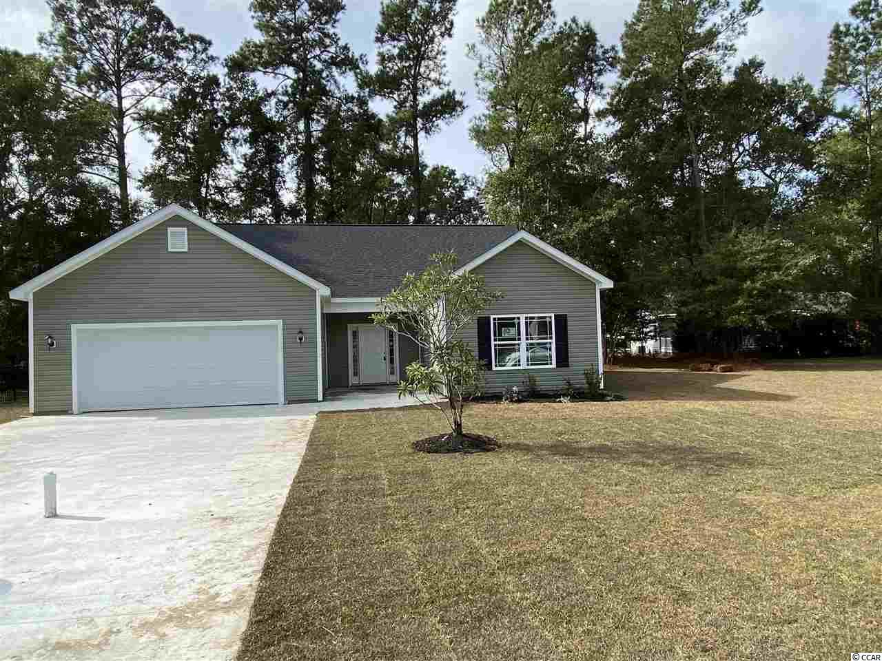 NO HOA! Have all your toys(boat/RV/Work Truck/ETC) in your driveway or parked on the lot. NEWLY CONSTRUCTED Home rests on a quiet cul de sac street for all the privacy one would ever want. Lot is just under a 1/2 acre and there is room to add another garage/shed/office. This spacious floor plan offers an open and airy floor plan and great for entertaining. Kitchen offers hard surface counter tops, stainless steel appliances and a center island. All 3 bedrooms are spacious and comfortable. Great Room is oversized with a Cathedral ceiling and open and airy to the rest of the home. This is a must see, call today for details.