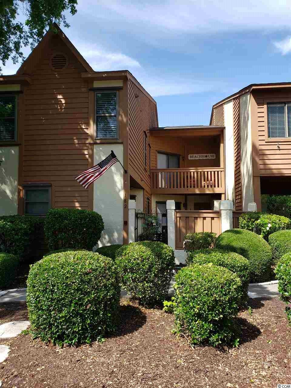 "Welcome to Surfside Beach!! The move in ready townhouse offers 2 bedrooms with 2.5 baths. East of business 17... ONLY 4 blocks from the Ocean! Each bedroom upstairs has its own full bath. Half bath is located on 1st floor. Master has walk-in closet, linen closet and attic with pull down stairs. Master bedroom has private Balcony overlooking courtyard. Sellers have remodeled which includes- Painted kitchen cabinets, kitchen sink, granite counter tops, under cabinet lighting, back splash and garbage disposal, 3 new toilets, bath faucets and new lighting throughout. Painted 1st floor ceilings, all condo walls and trim throughout, Bruce 5"" plank laminate flooring, carpeting upstairs. This condo is offered as unfurnished. Please shut all lights and return key to lock box. This unit is a second home for sellers. Hurricane shutter system (stored in storage room outside), new windows and building was last painted in 2019! Washer and Dryer are staying with townhouse. Pets and Golf cart friendly!! Call today for your showing!"
