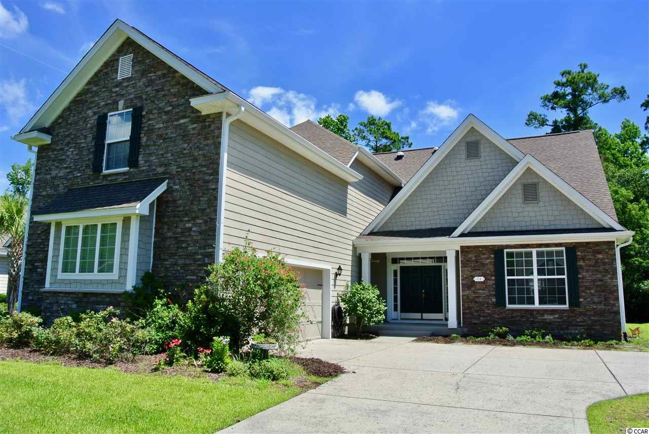 This home is located in Palm Bay which is part of the master planned community of Prince Creek in Murrells Inlet, SC.  Close to beach, close to Murrells Inlet Marsh Walk, convenient shopping close by, Amenities throughout Prince creek...Community features guard house with gated access, community center with outdoor activity which include clubhouse with gym, two pools, tennis courts, volleyball and a playground.  This is a very open floor plan with 5 bedrooms and a huge bonus room over the garage. The master bedroom is located on the first level. Home is located on a quiet road with minimal traffic and backs up to a wooded buffer area.  Call to see this home today!