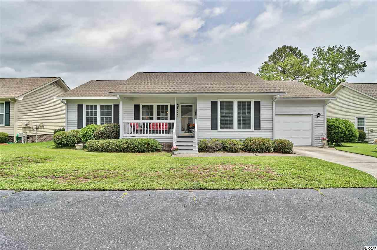 Lovely move-in condition well-maintained 2bd/2ba, 1 car garage home located in the very desirable gated 55 Plus community of Spring Forest in Murrells Inlet.The home has newer HVAC system, Hot water tank, and flooring. When you pull up to 9440 Chicory Lane take note of the nice front porch which is great for enjoying the southern weather and waving at your friends/neighbors. Open the front door to a lovely living room and dining room with plenty of natural light. When you walk into the front door the hallway to your right has 3 nice size closets (lots of storage in this home), front bedroom with natural light, ceiling fan and carpet floor, your main bath located here (great for guest to come visit you here at the beach). Kitchen has a breakfast bar, and all appliances. The washer/dryer is located in a closet in the kitchen. Master bedroom has window for natural light, ceiling fan, carpet floor, walk-in closet, and another closet for your bathroom items.  Wow is what you will say when you see the large All-Season Room with a great view of the water. Enjoy this room watching the wildlife!!  Spring Forest has a nice size clubhouse with exercise center, pool, and plenty of activites for the residents, there is also a storage area for residents can park boats/RV. Location, Location - the community is close to the famous Murrells Inlet Marshwalk, Huntington State Park, golf, shopping, and yes, the Blue Atlantic Ocean. OWNER WOULD LIKE TO SELL THE HOME FURNISHED, AS A PACKAGE, UNDER A SEPARATE AGREEMENT.  ASK LISTING AGENT.