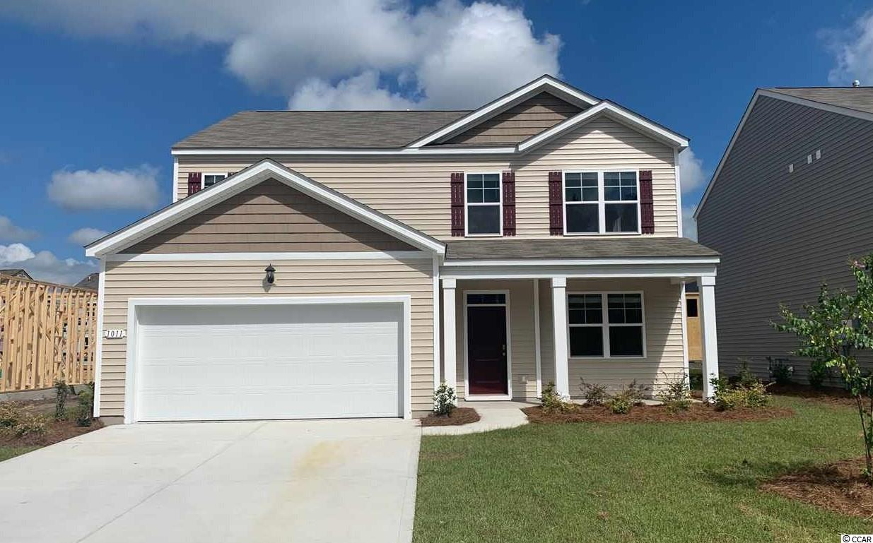 """The Elle is a brand new floor plan that has never been built in Carolina Forest! This home is oversized with plenty of room for everyone. Upon entry is a flex room that could be a great home office, game room, or even a formal dining room. The great room layout is wide open with sliding glass doors leading to the rear patio. 36"""" painted maple cabinets, granite in the kitchen, laminate wood flooring throughout the main living areas, stainless appliances, and our industry leading smart home package all included! The master suite on the first floor is very convenient as well! Upstairs features four nicely sized bedrooms, two full baths, and a laundry room! To top it all off, there is an oversized second floor living area!   *Photos and virtual tour are of a similar Elle home. (Home and community information, including pricing, included features, terms, availability and amenities, are subject to change prior to sale at any time without notice or obligation.  Square footages are approximate.  Pictures, photographs, colors, features, and sizes are for illustration purposes only and will vary from the homes as built.  Equal housing opportunity builder.)"""