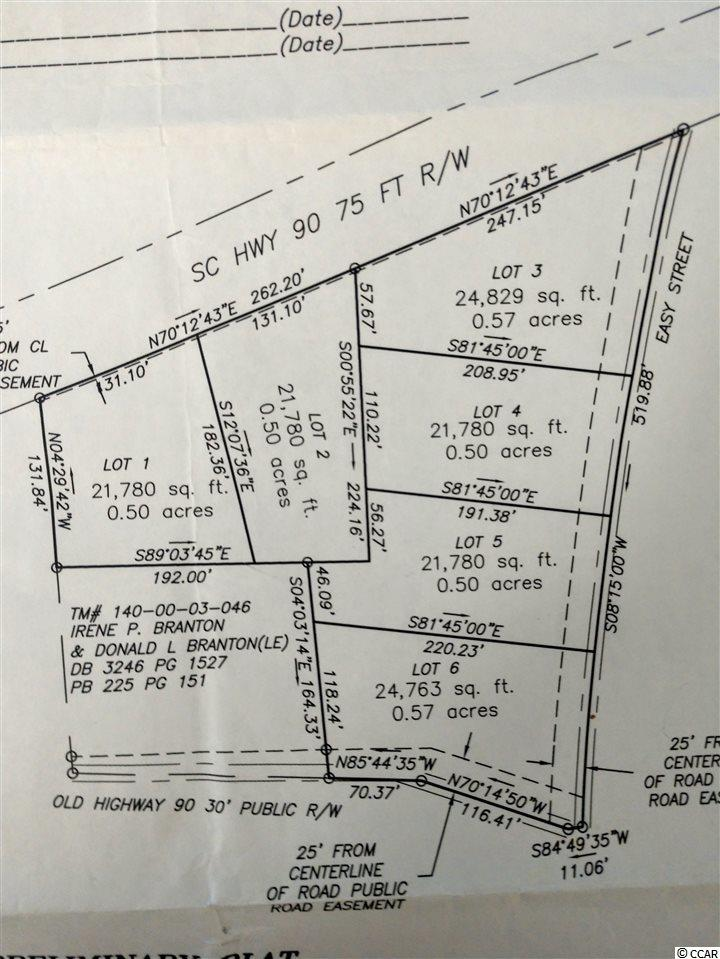 5 individual lots, .5 to .57 acres in size. The lots have some great pines and hardwoods for those that like a home site with personality. The brush has been cleared.  The lots have public water and sewage. Lots 4-5 will have sewage run in the next 12-18 months or have it added.  Also septic is an option.  Just minutes from international drive and highway 22.  Many new business coming to the area to increase property values and appeal.   No HOA.  Stipulation of sale is no mobile homes or storage facilities.  Single family custom homes only.