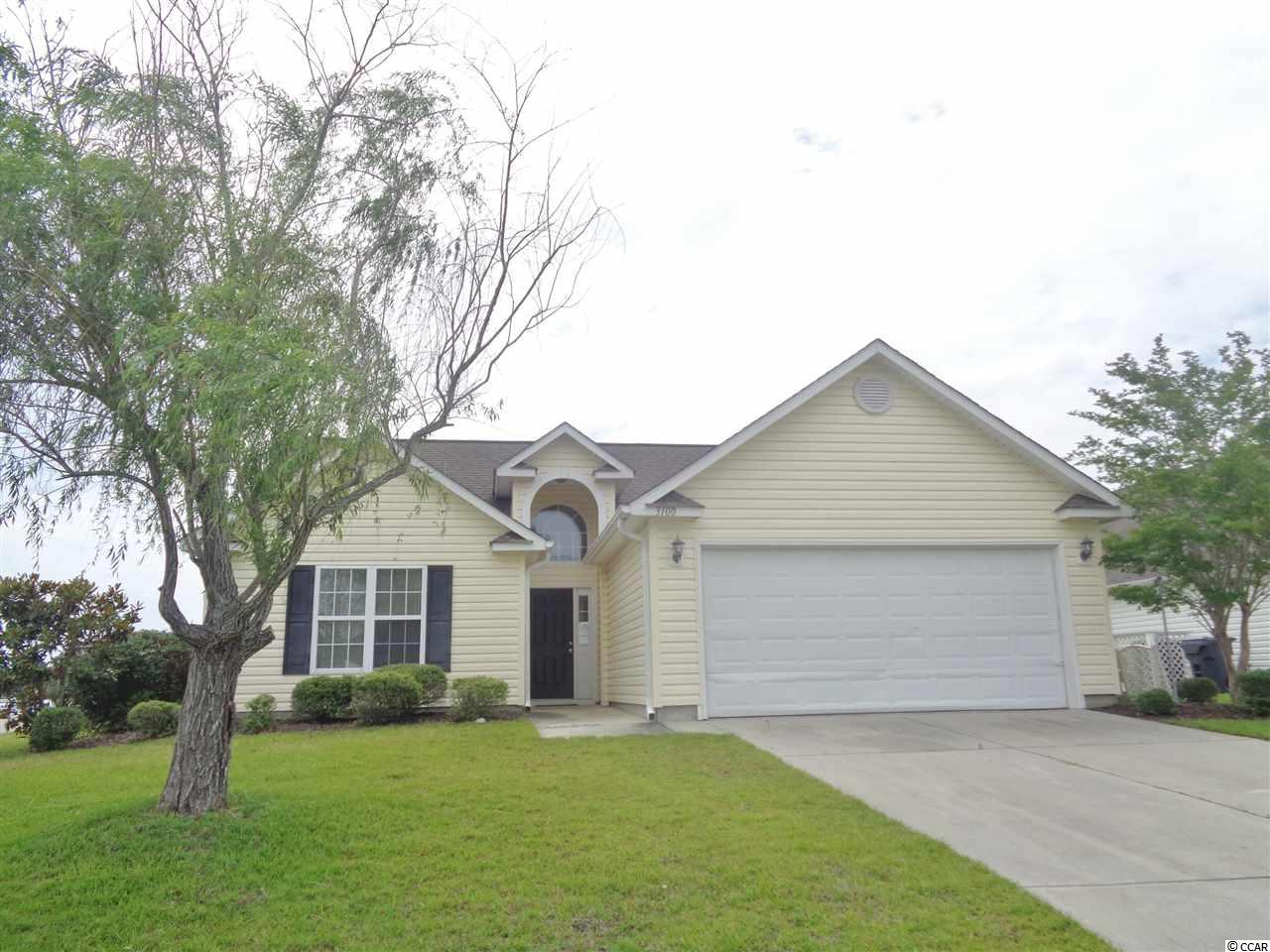 On the lake with fountain. Back yard with views. Well maintained home with 2-car garage. Open floor plan. Spacious master bedroom overlooks the lake. Combined living room/dining room. Open kitchen with white cabinets and plenty of storage. Spacious back yard. Heat pump replaced 6/6/19. Cascades is just minutes from Market Common, Myrtle Beach Airport, shopping, golf, medical facilities and the beautiful Atlantic Ocean!