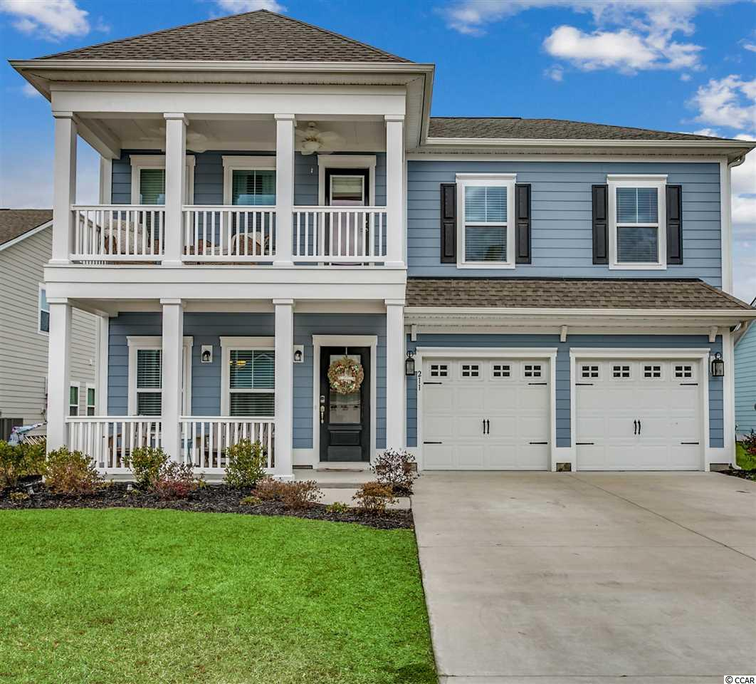 Coastal living at its best! Come see this beautiful home only a few years old located in one of the newest neighborhoods in Pawleys Island at The Colony.  This two story home with double front porches boosts 5 bedrooms, and 3.5 baths. The huge bonus room with a walk in closet, is the  5th bedroom, a mother in laws suite or an office. So many options! The bonus room connects to a bathroom and the 4th bedroom shares this bath. There is a walk in attic off of the bonus room with lots of storage space.  The two other upstairs bedrooms are connected with a jack n jill bath with a double vanity. The upstairs is carpeted with tile in baths.  The master suite is located on the first floor with walk in closet, trey ceilings, large walk in shower, double vanity with granite countertops and tile flooring. The upgraded kitchen is fully equipped with stainless appliances, a double oven, a 5 burner gas cooktop, granite counter tops, easy pull out drawers in many of the custom cabinets, a breakfast bar and a breakfast area.  The formal dining area is accented with double tray ceilings and wainscoting and crown throughout. This home was built in 2017 on a premier lot with hardiplank siding that backs up to a pond with a large backyard. Nice aluminum fencing in backyard with plenty of room for a pool.  An oversized screened in porch and 10 x 16 stone paver patio gives you lots of space for  outside entertaining. Close to the beach, shopping, restaurants, golf and much more. Historic Georgetown approx. 10 min, historic Charleston approx 90 min and the Myrtle Beach airport is approx 45 min away. Come see this home today! You won't be disappointed.