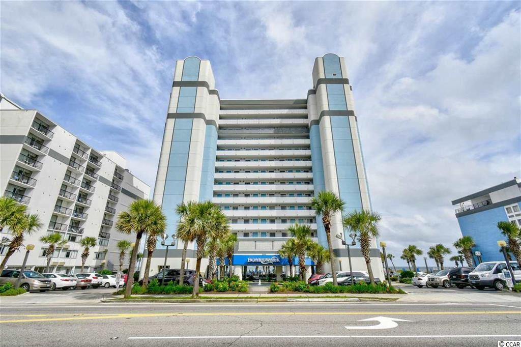 Ocean front 1 br. 1 ba. 12th floor unit with an amazing ocean view. Perfect location to all the main events held in Myrtle Beach, Steps from the Convention Center, The Run to the Sun Car Show, The huge Country Music Festival, Restaurants, Ferris Wheel, They are even talking of a possible new Theme Park with rides coming that will be within walking distance. Complex has indoor pool, out door pool, Jacuzzi, work out room. Call to see today before this unit sales away!