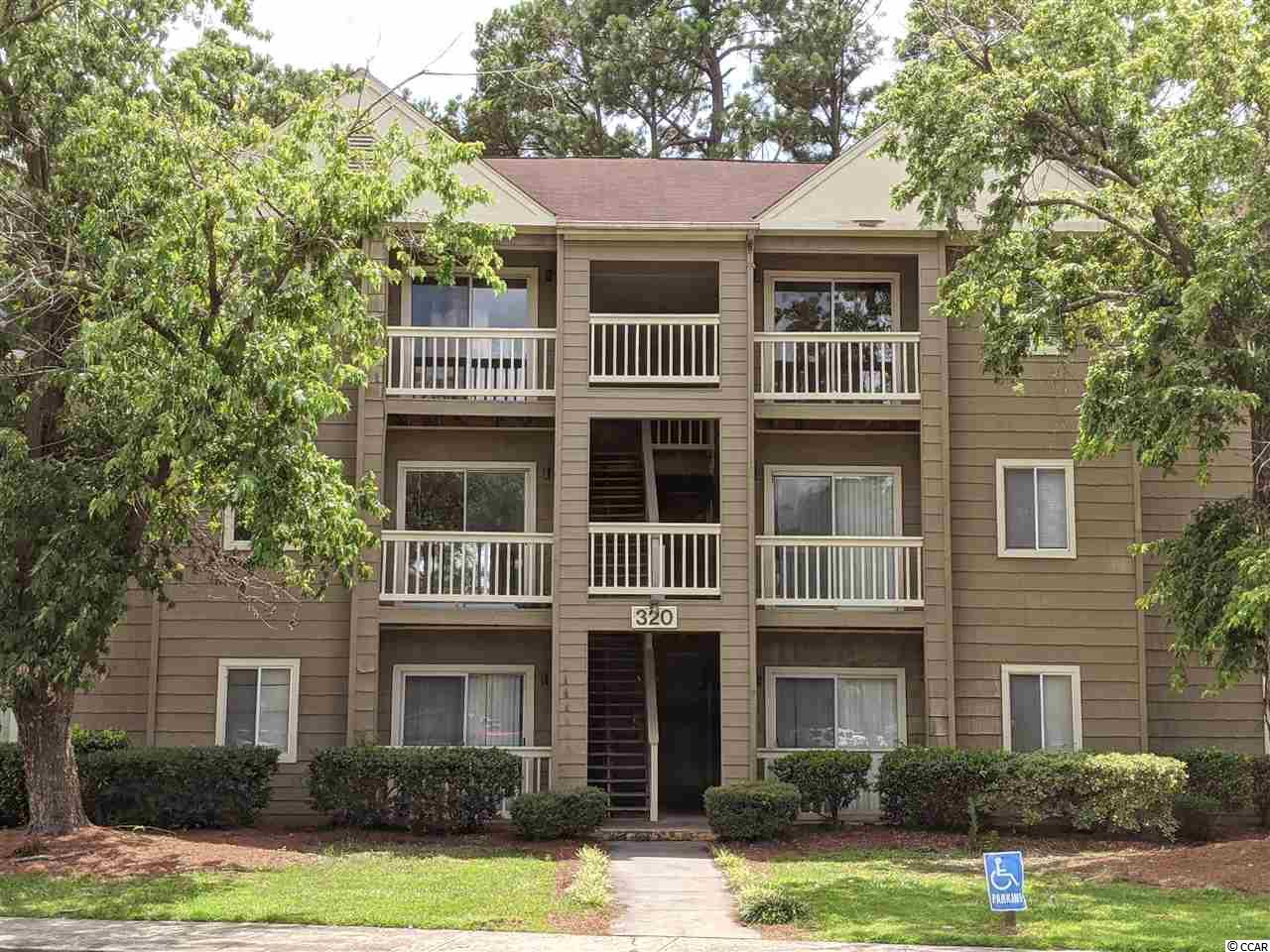 Desirable 2 bedroom 2 bathroom roughly 1100 sq ft unit on easy to access 1st floor in the Myrtle Greens association in Conway. Enjoy the many community amenities: Pool with lounging areas, tennis court, picnic area, club house, water features and more. Well laid out unit with front and rear patios, large storage area attached off rear patio too! Private views of green area and water off the back patio area to relax on. Great floor plan with both bedrooms connecting to both bathrooms from bedrooms. Great for kids, guests or family to stay in and enjoy! Additional storage closets in entry hallway and back patio. Huge master bedroom walk-in closet is a great feature. Light and bright kitchen with lots of prep space to enjoy making meals in. Open living room and dining areas make this floor plan functional well. This unit for the price is a must see to appreciate!
