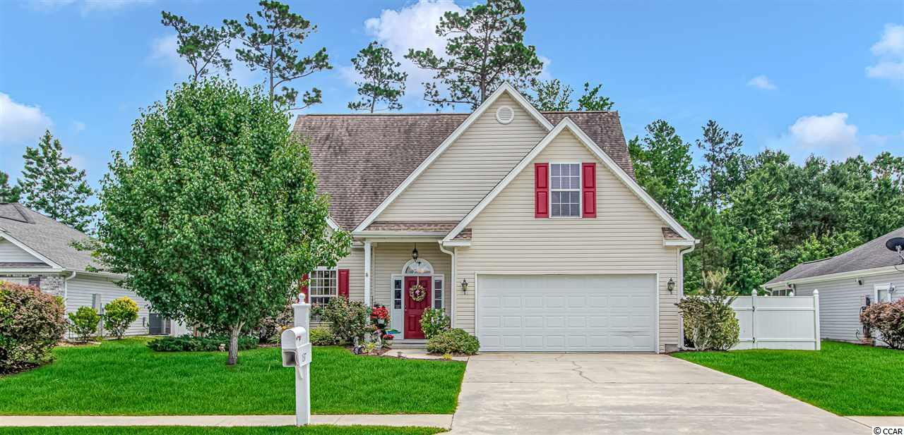 Great family home, fenced in, near community pool and down the street from the Elementary and Middle Schools.  Living room with open floor plan high cathedral ceiling, lots of natural light.  Kitchen with lots of cabinet storage space, bar island and dinette.  Large First floor master bedroom.  A second Master bedroom on 2nd floor large enough with a sitting area.  The loft has a door and closet, the wall can be left open or close for a private bedroom or office.  Perfectly manicured landscape. Great back yard and already fenced in, not many communities allow fencing. First floor with all hardwood floors, kitchen and bathrooms with tile floors, upstairs bedrooms with all new carpet. Additional items, transferable termite bond, irrigation system and central vacuum system. New water heater and HVAC.  Move in ready home.