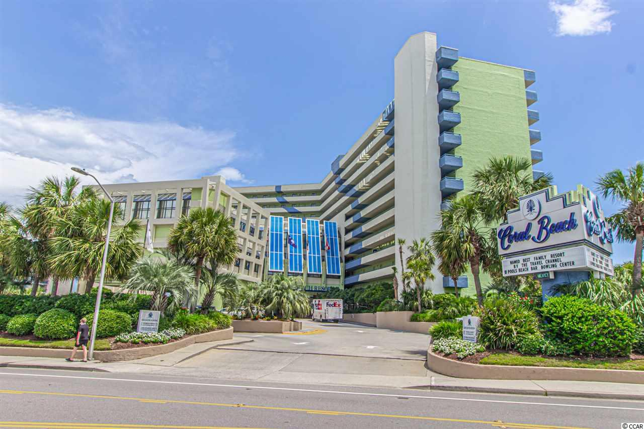 Check out this really nice oceanfront 1 bedroom condo located at the Coral Beach Resort in Myrtle Beach, SC.  This unit sits on the 9th floor and offers panoramic oceanfront views, and about 600 sq ft. of living space.  This apartment is sold fully furnished and features 2 queen beds, 1 full size murphy bed, sofa, dressers, 2 TV's, updated decor and wall art, and so much more.  This condo also features a full kitchen with full size appliances and plentiful cabinet space for storage.  Currently, this unit will accommodate 6 guests, but with a sleeper sofa it will sleep 8!  This is a great investment located at an awesome resort!  Indoor and outdoor pools, hot tubs, bowling alley, bars and restaurants, gift shop, Starbucks, and more.  Coral Beach has been voted the #1 family resort by the Travel Channel!  The grounds are extremely well maintained and the commons areas and lobby are always nice and clean!