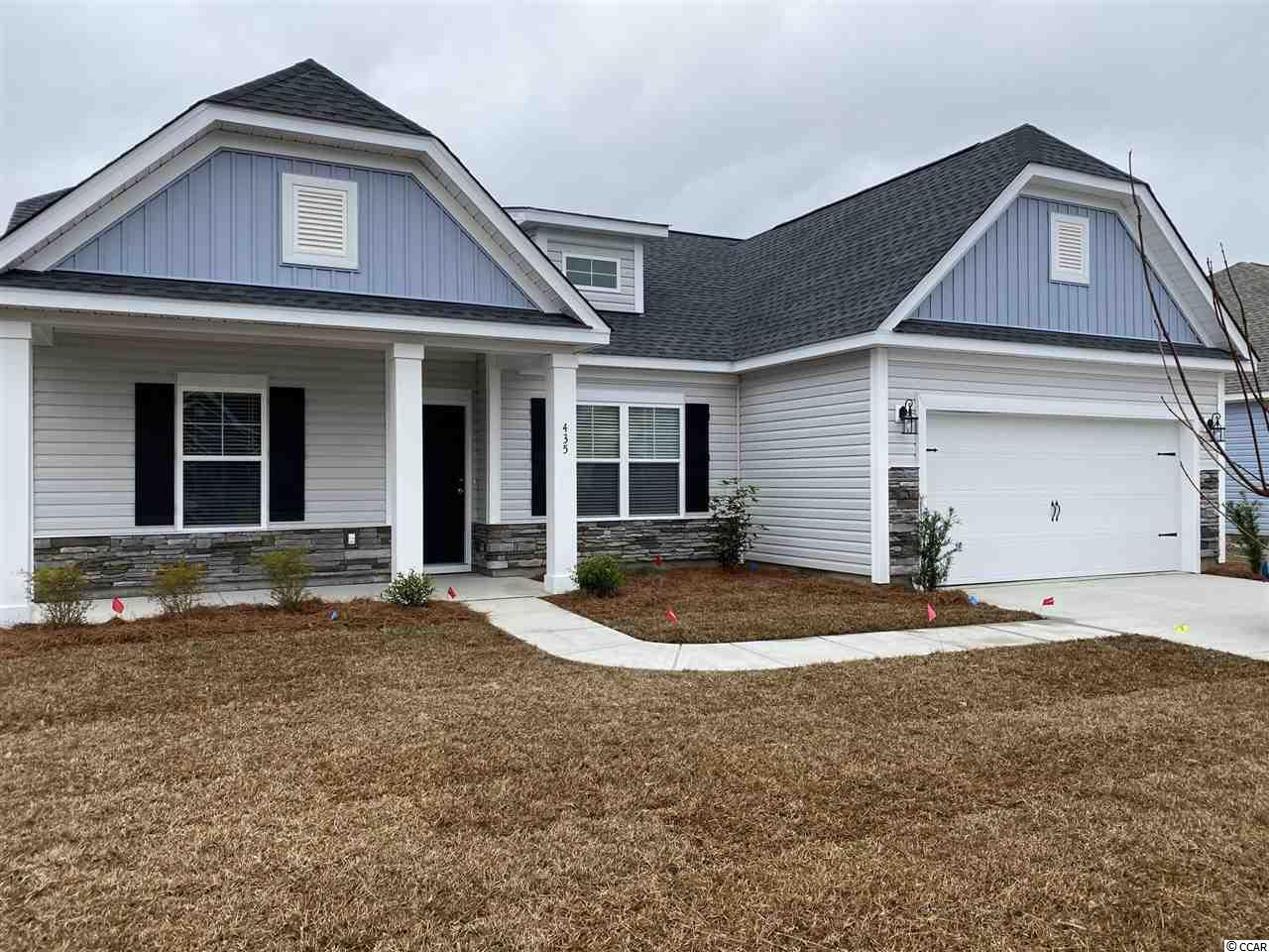 """BRAND NEW - This """"Wisteria E"""" model on lot 27 is quite the home! 3 bed, 2 bath, single level, fireplace, and backs to the pond! Welcome to Myrtle Beach and Freewoods Park... a great new neighborhood located in the St. James area of greater Myrtle Beach! The Freewoods Park Community is proud to offer a great lineup of single-story and two-story homes that range from 1,411 to over 2,100 heated square feet. These homes offer durable vinyl exteriors with stone and brick accents. There are 6 models with various elevations to choose from, the subdivision has a custom home feel and look, yet with an amazingly affordable price! Freewoods Park is an intimate 32 lot subdivision offering a relaxing neighborhood setting with light HOA restrictions for the laid-back lifestyle. But the real beauty and value of Freewoods Park begins with the free-flowing designs and upgraded interior features. Inside our homes are open concept layouts with granite countertops in the kitchen and all baths, crown molding in featured areas, recessed and pendant lighting, full wood-framed windows, staggered height cabinets with crown molding, and a whole list of energy efficient features that will save you money month after month. Step outside under your included covered back porch and enjoy your morning coffee or afternoon cocktail along with a gentle coastal breeze and the sounds of nature. Freewoods Park Subdivision is only a short drive to Surfside Beach """"The Family Beach"""", Murrells Inlet Marsh Walk, Brookgreen Gardens, shopping, and dining, but you're living in a quieter residential area away from all the tourist traffic. Now's the time for you to come discover Freewoods Park. Don't miss your chance to own one of these homes! Freewoods Park lies close to Highway 707 and Highway 31. Both are major connectors in the area which link the laid back south end of the Grand Strand with the excitement and services offered in Myrtle Beach and North Myrtle Beach. Photos are of previously built Wisteria."""